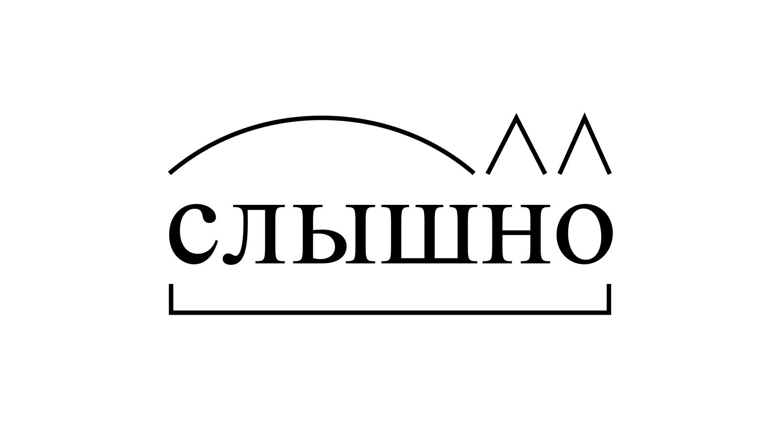 Разбор слова «слышно» по составу