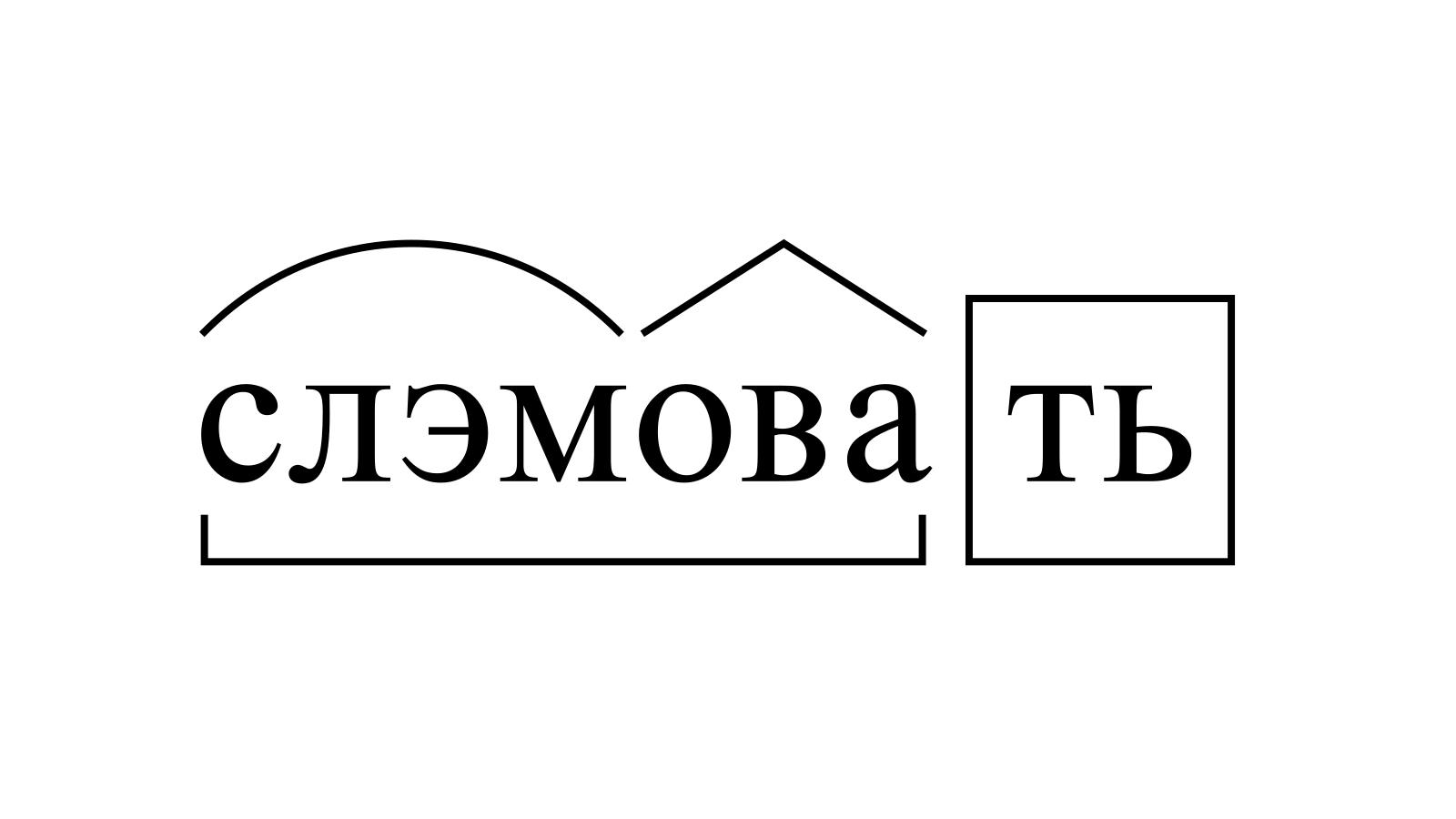 Разбор слова «слэмовать» по составу