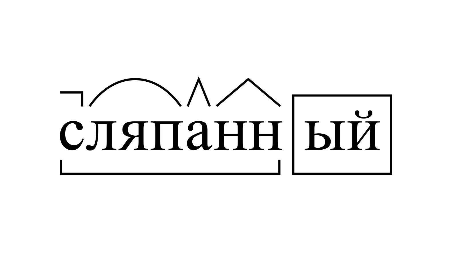 Разбор слова «сляпанный» по составу