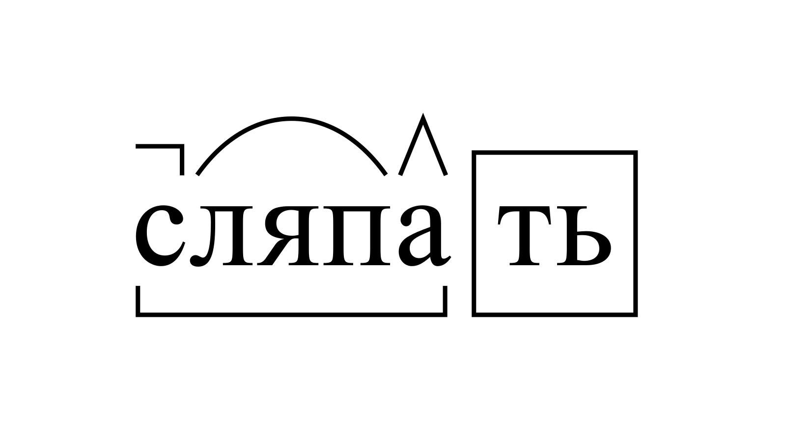 Разбор слова «сляпать» по составу