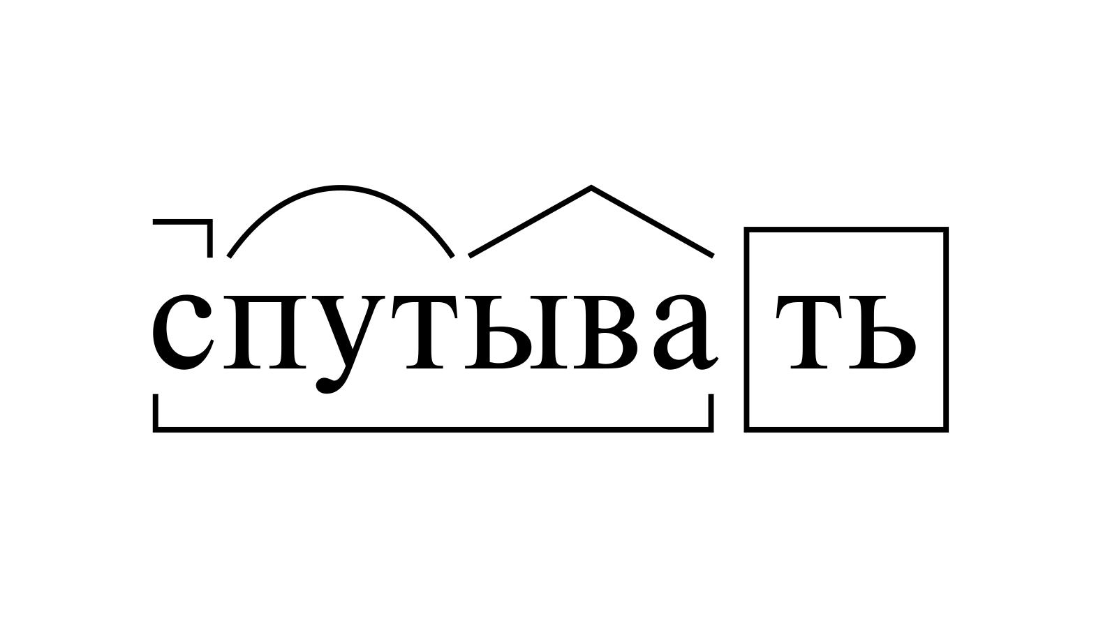 Разбор слова «спутывать» по составу