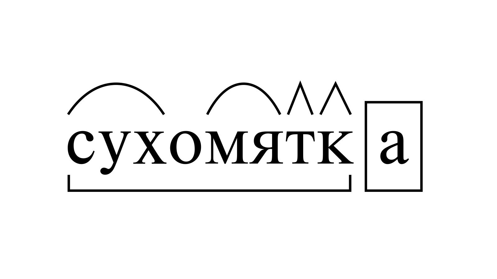 Разбор слова «сухомятка» по составу