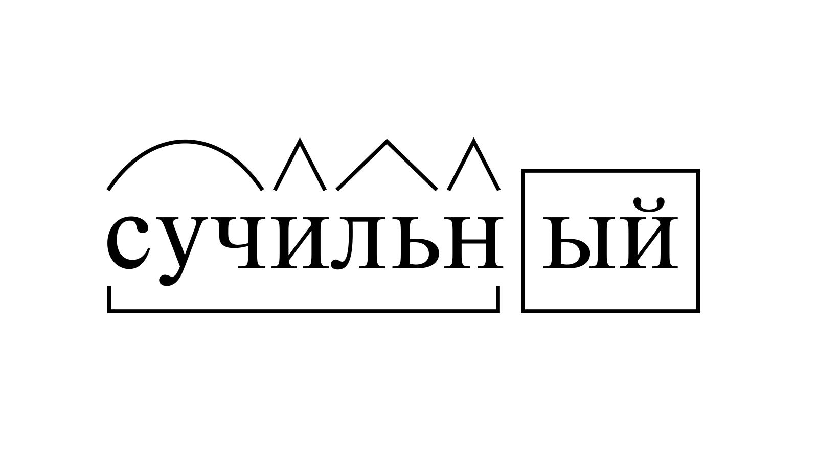 Разбор слова «сучильный» по составу