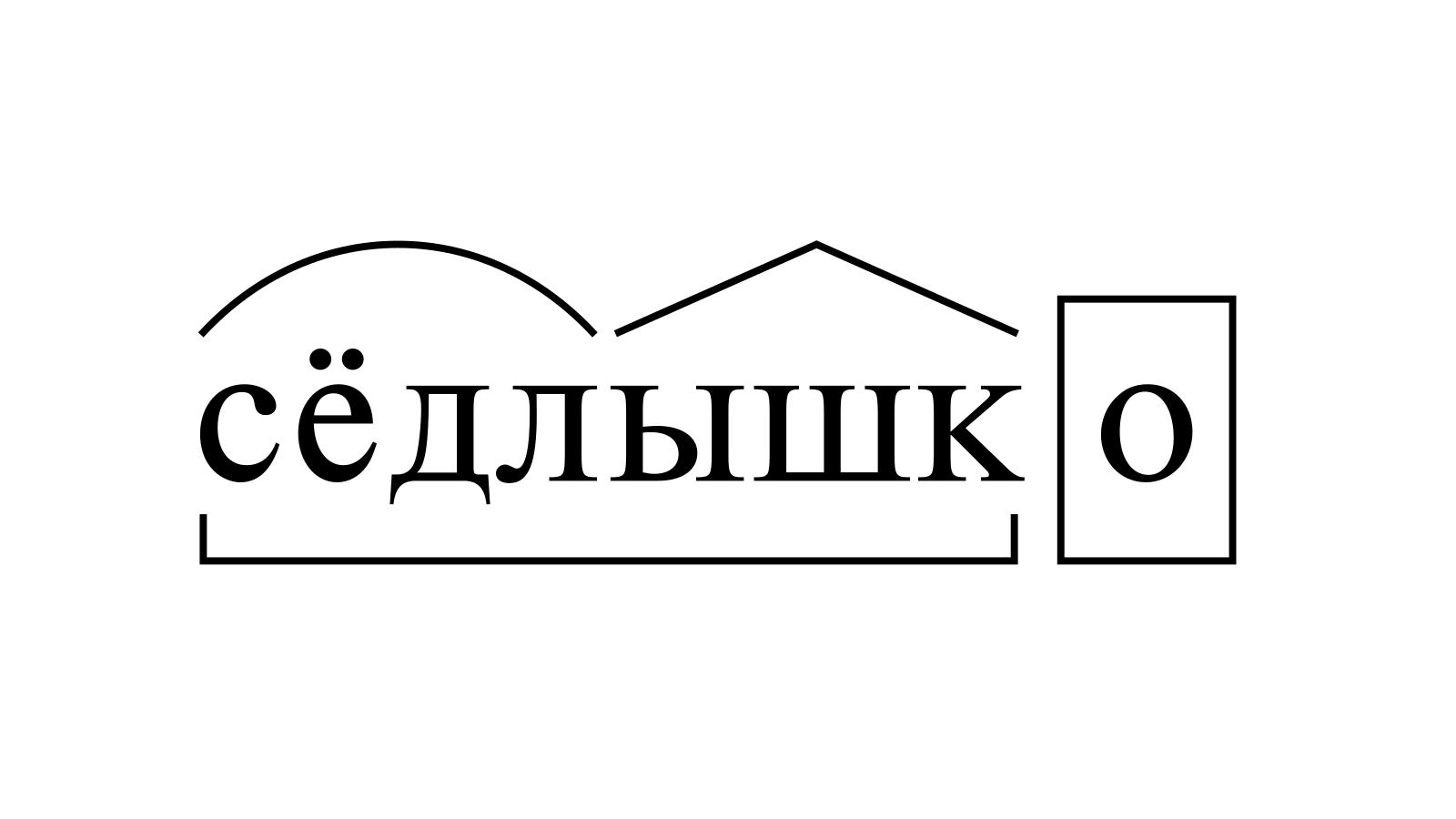 Разбор слова «сёдлышко» по составу
