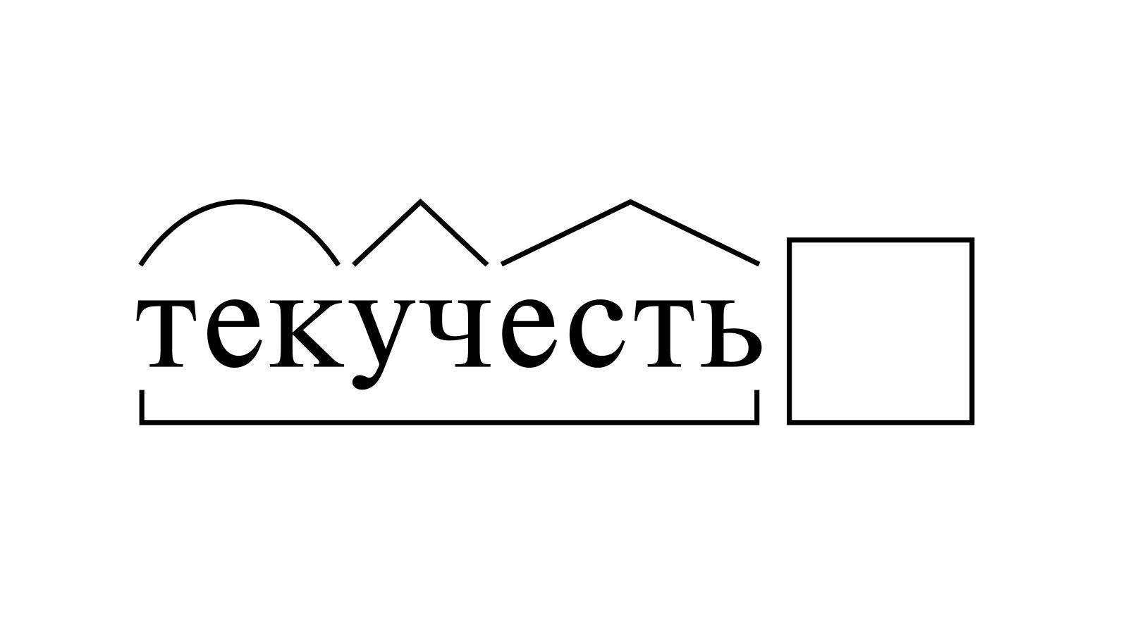 Разбор слова «текучесть» по составу