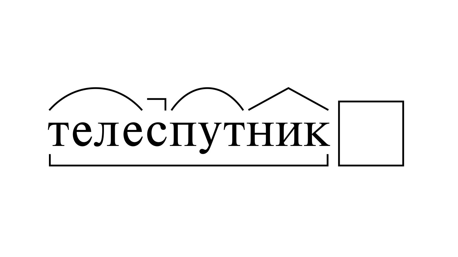 Разбор слова «телеспутник» по составу