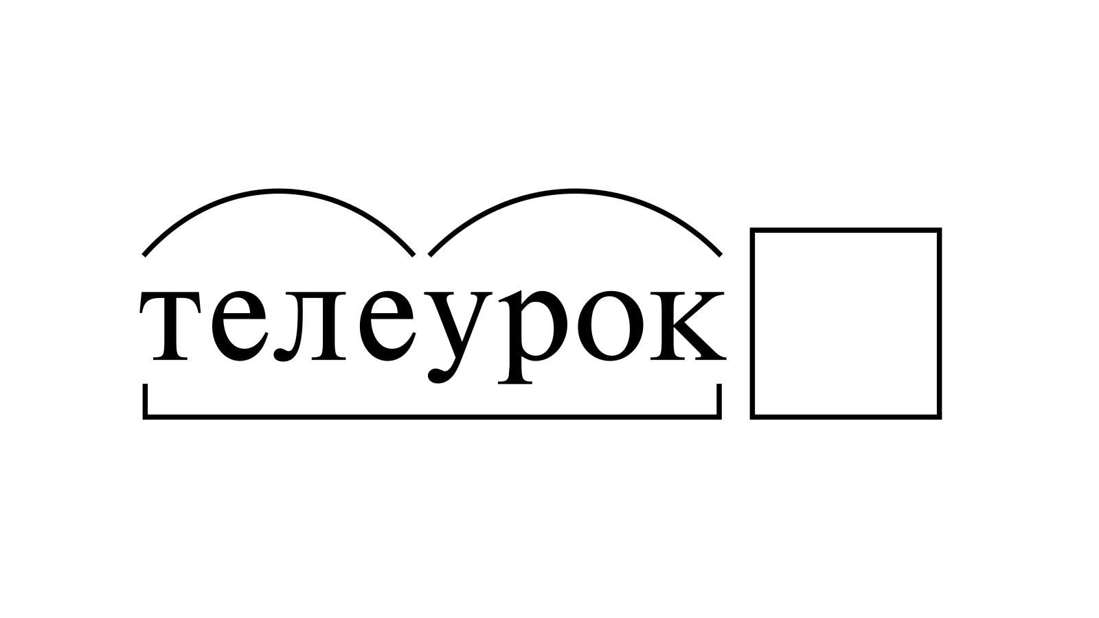 Разбор слова «телеурок» по составу