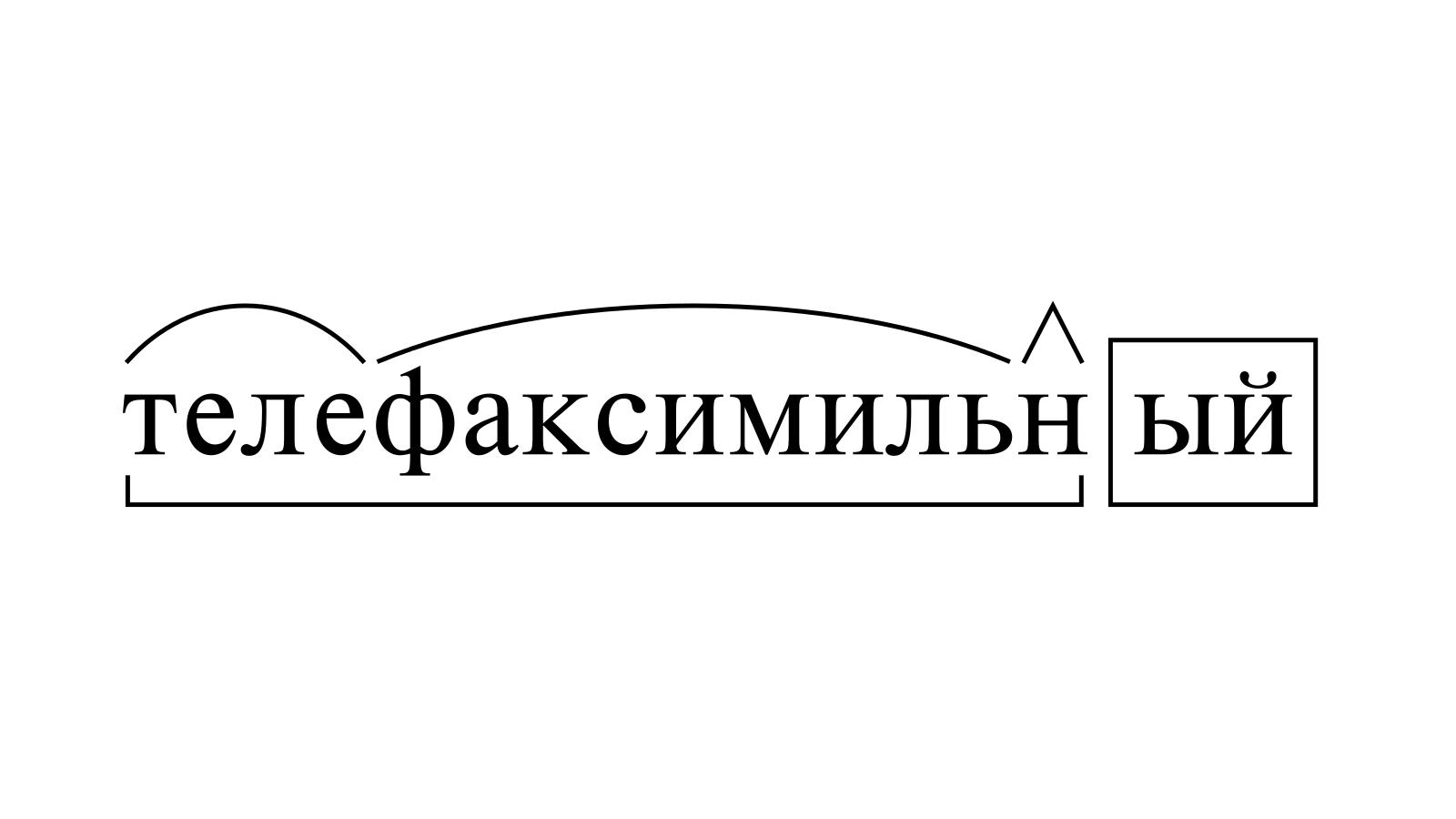 Разбор слова «телефаксимильный» по составу
