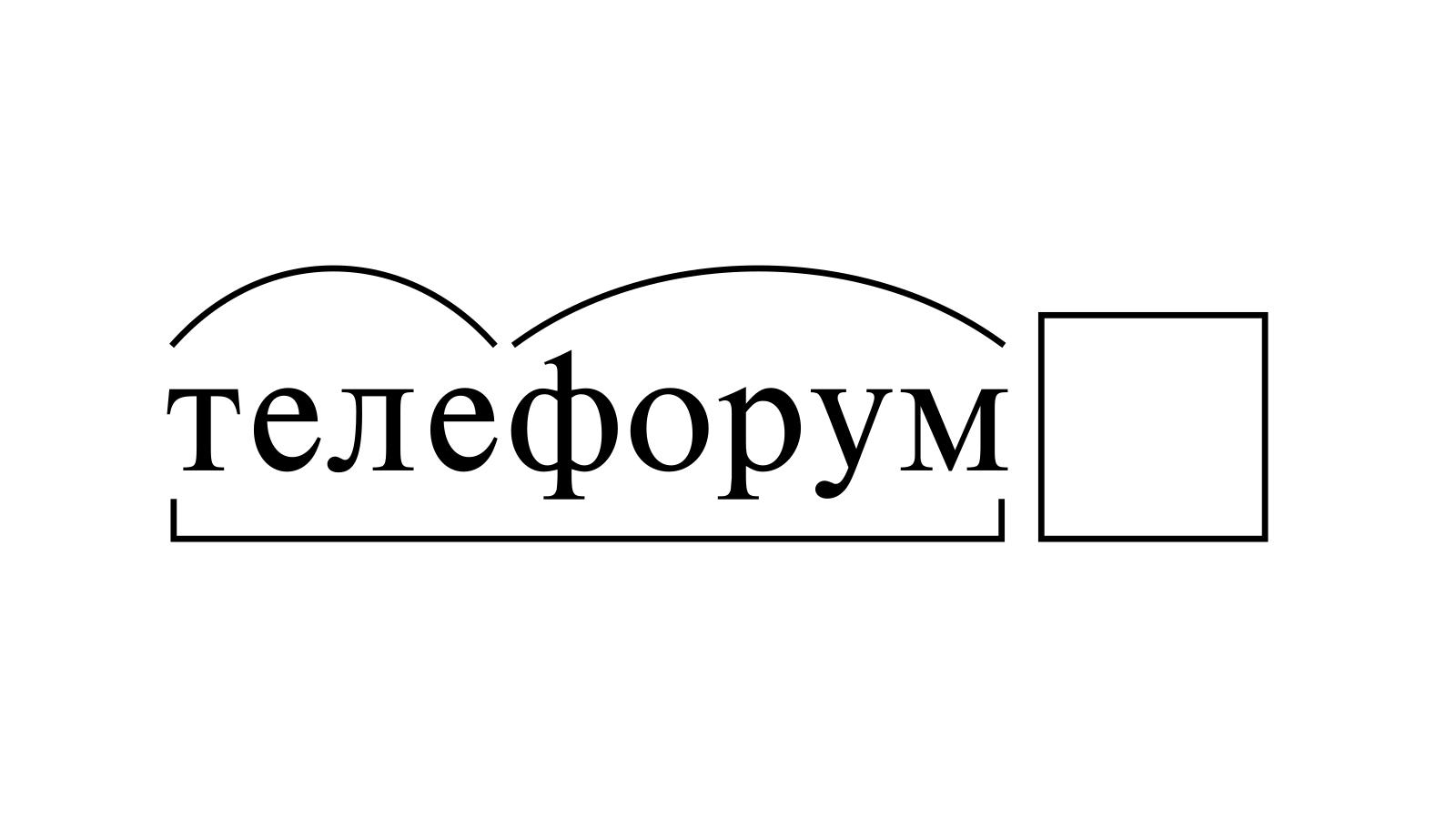 Разбор слова «телефорум» по составу