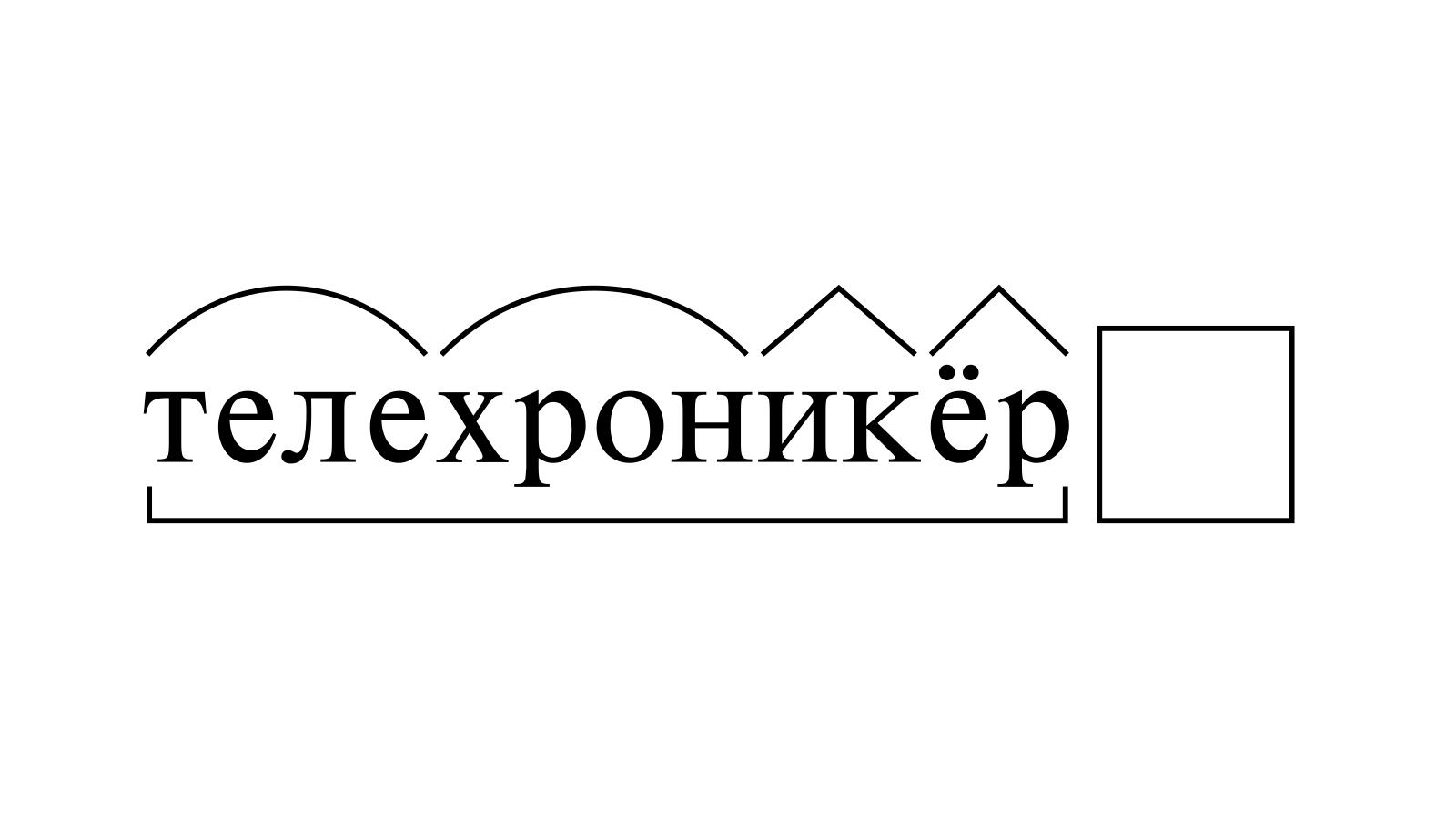 Разбор слова «телехроникёр» по составу