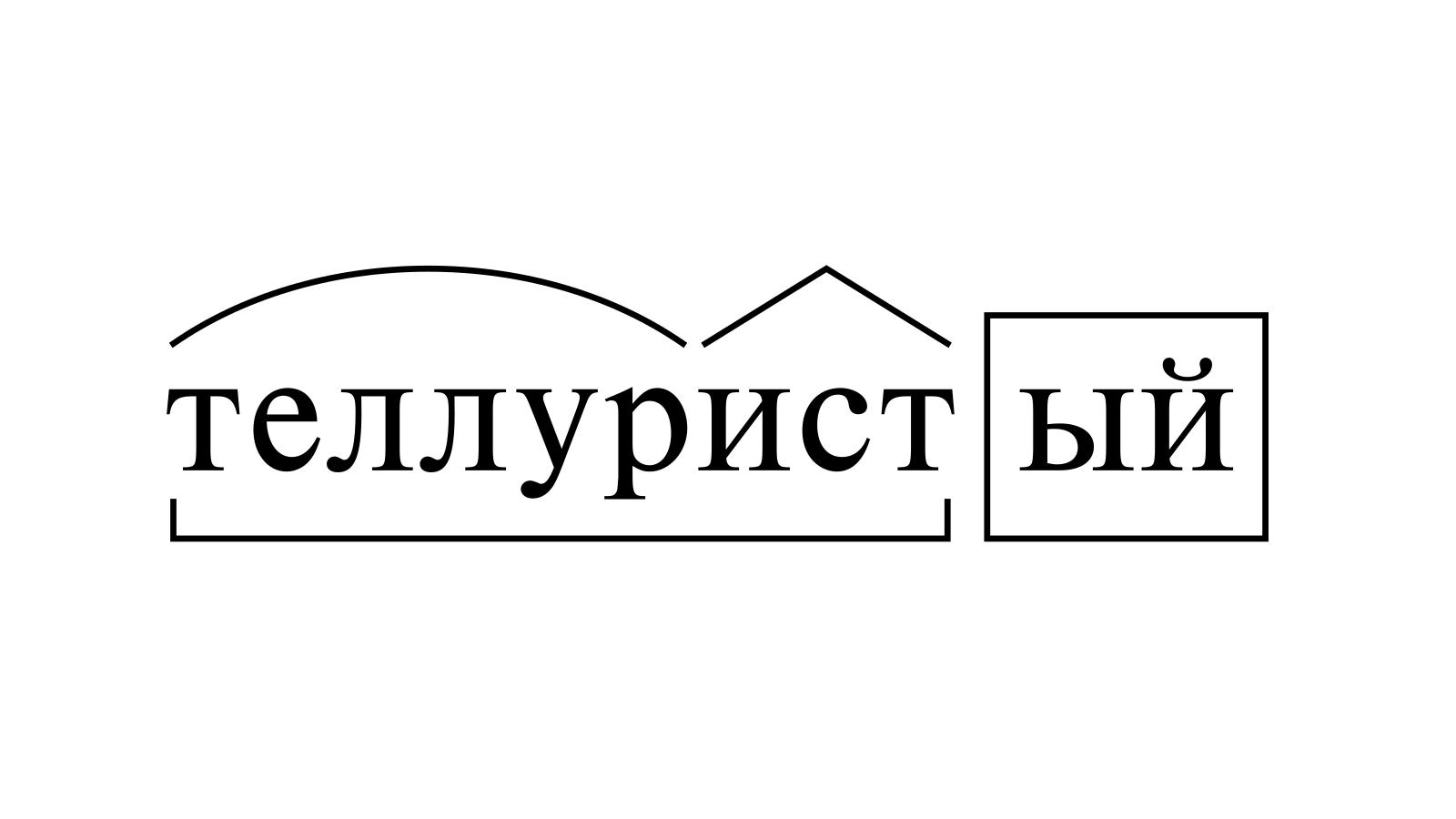 Разбор слова «теллуристый» по составу