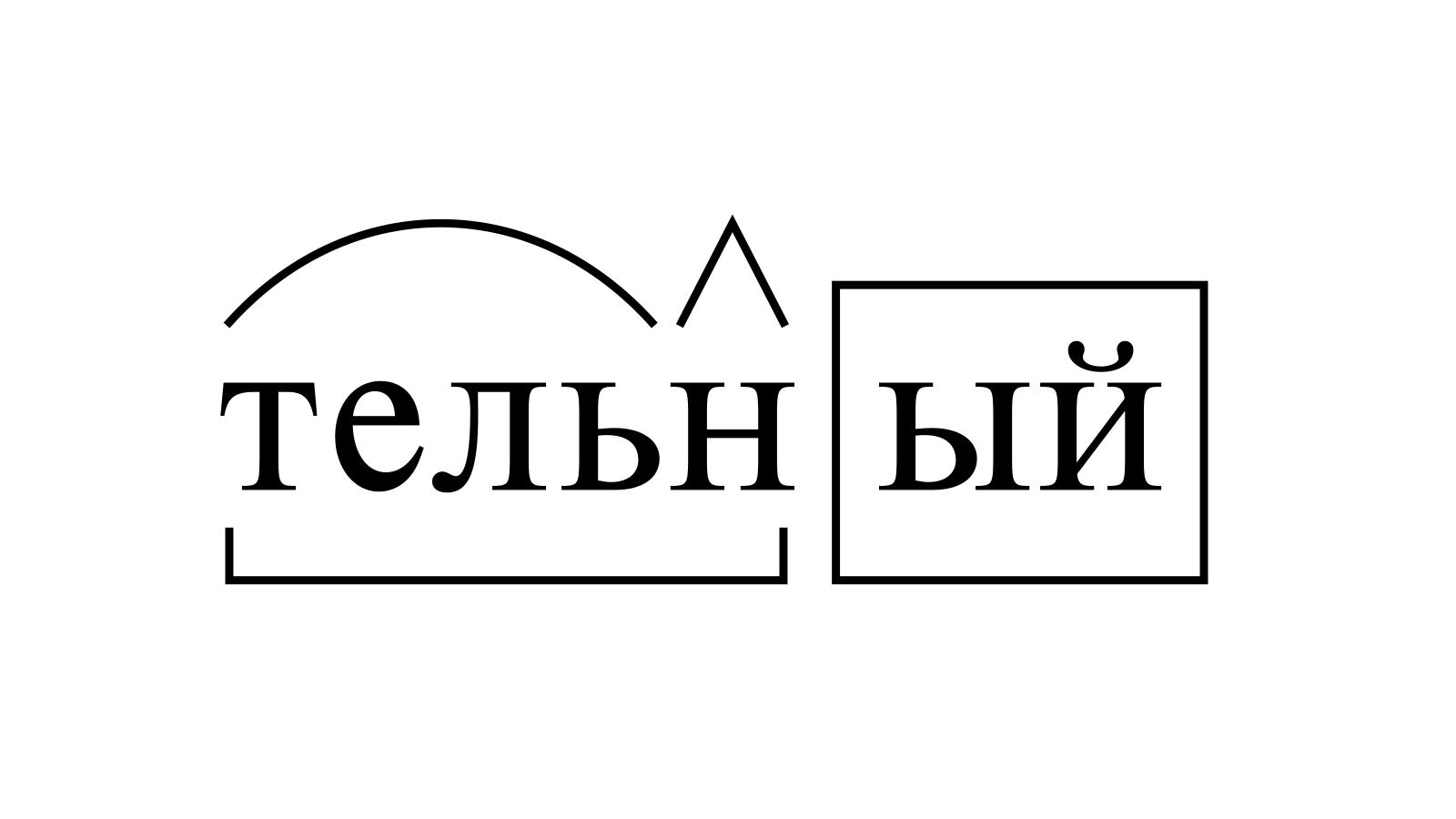 Разбор слова «тельный» по составу