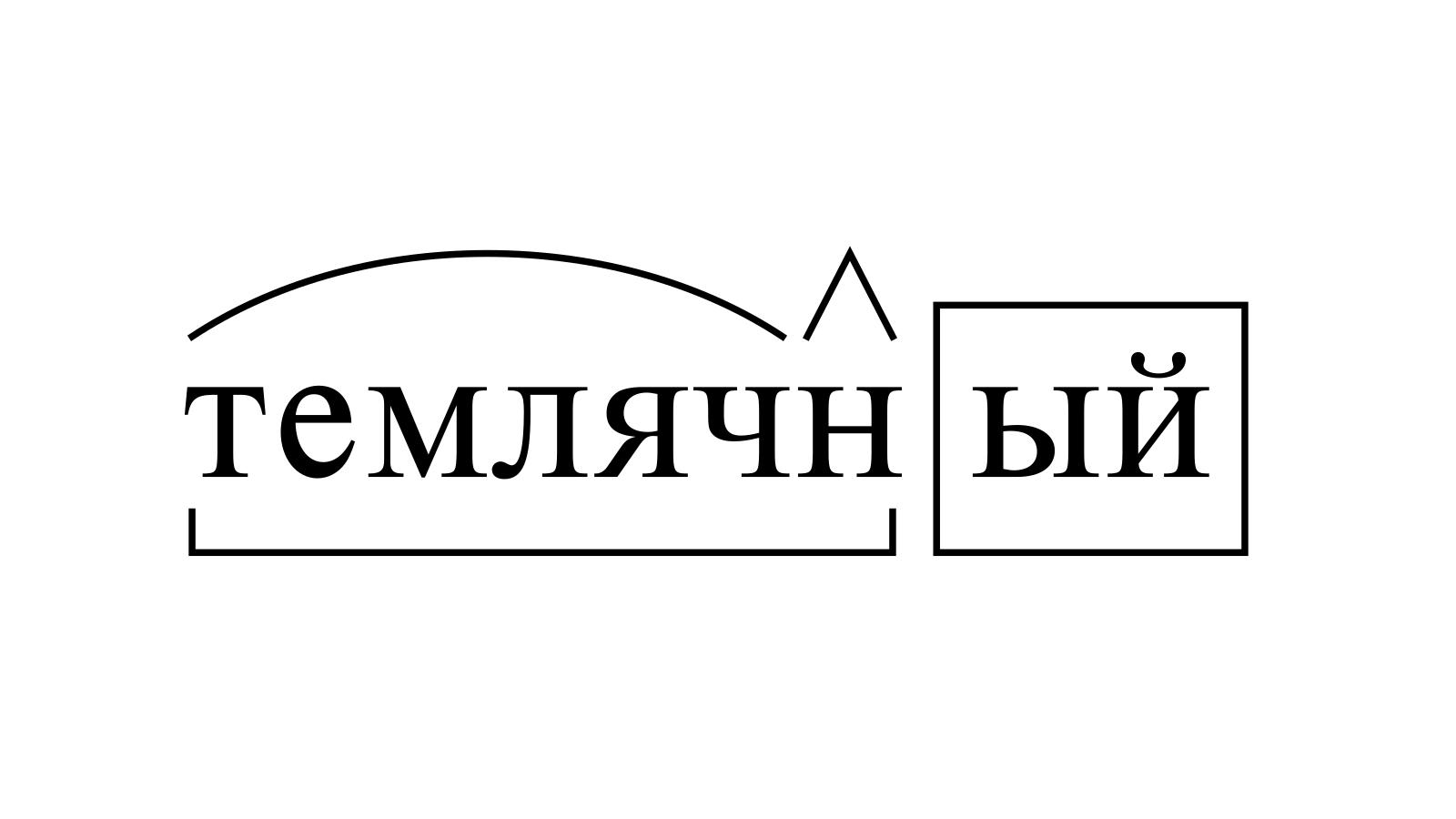 Разбор слова «темлячный» по составу