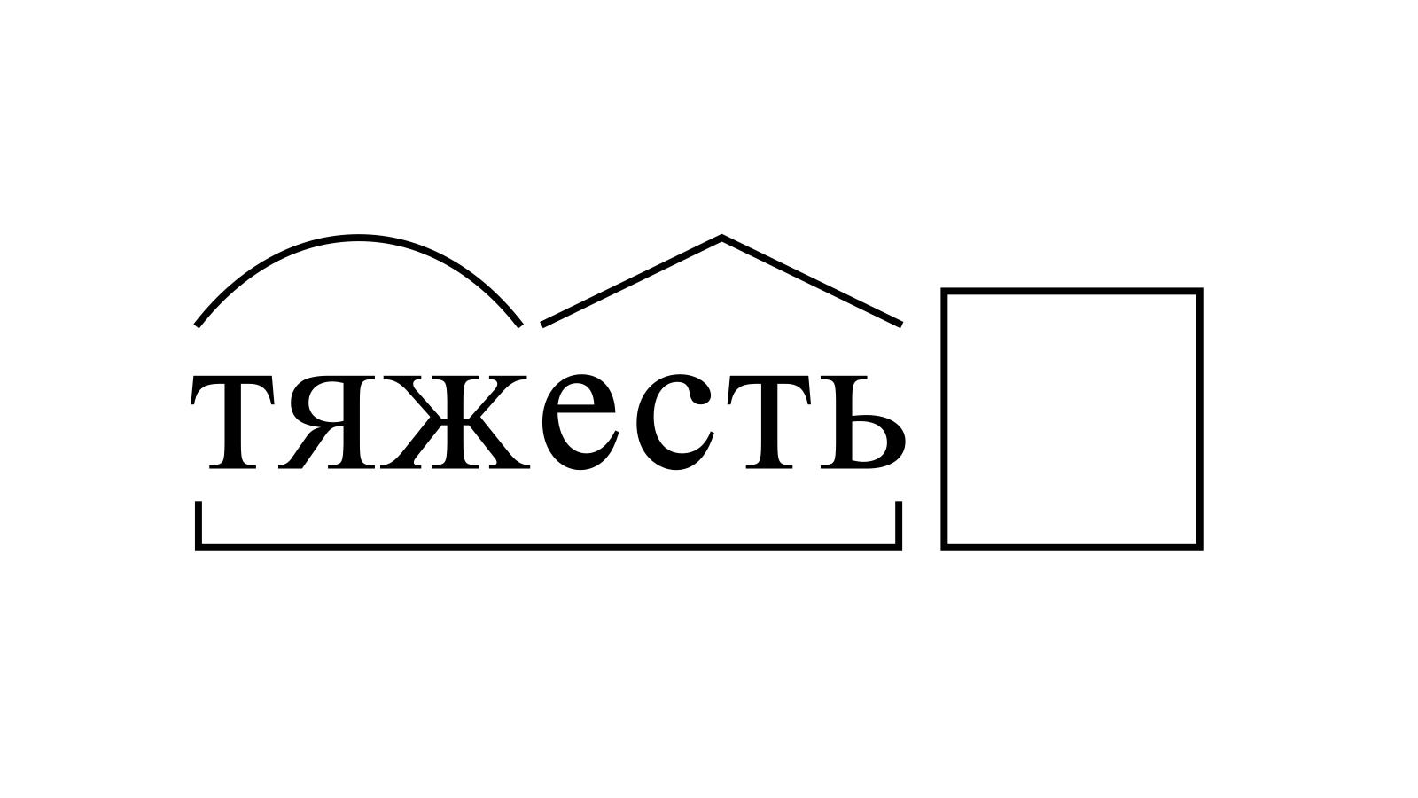 Разбор слова «тяжесть» по составу