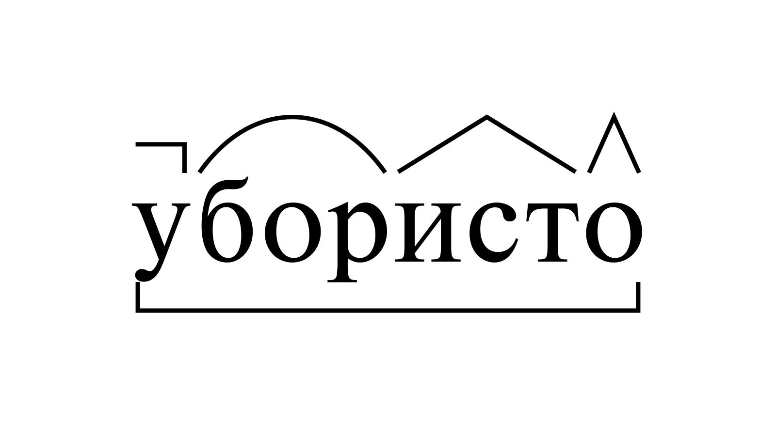 Разбор слова «убористо» по составу