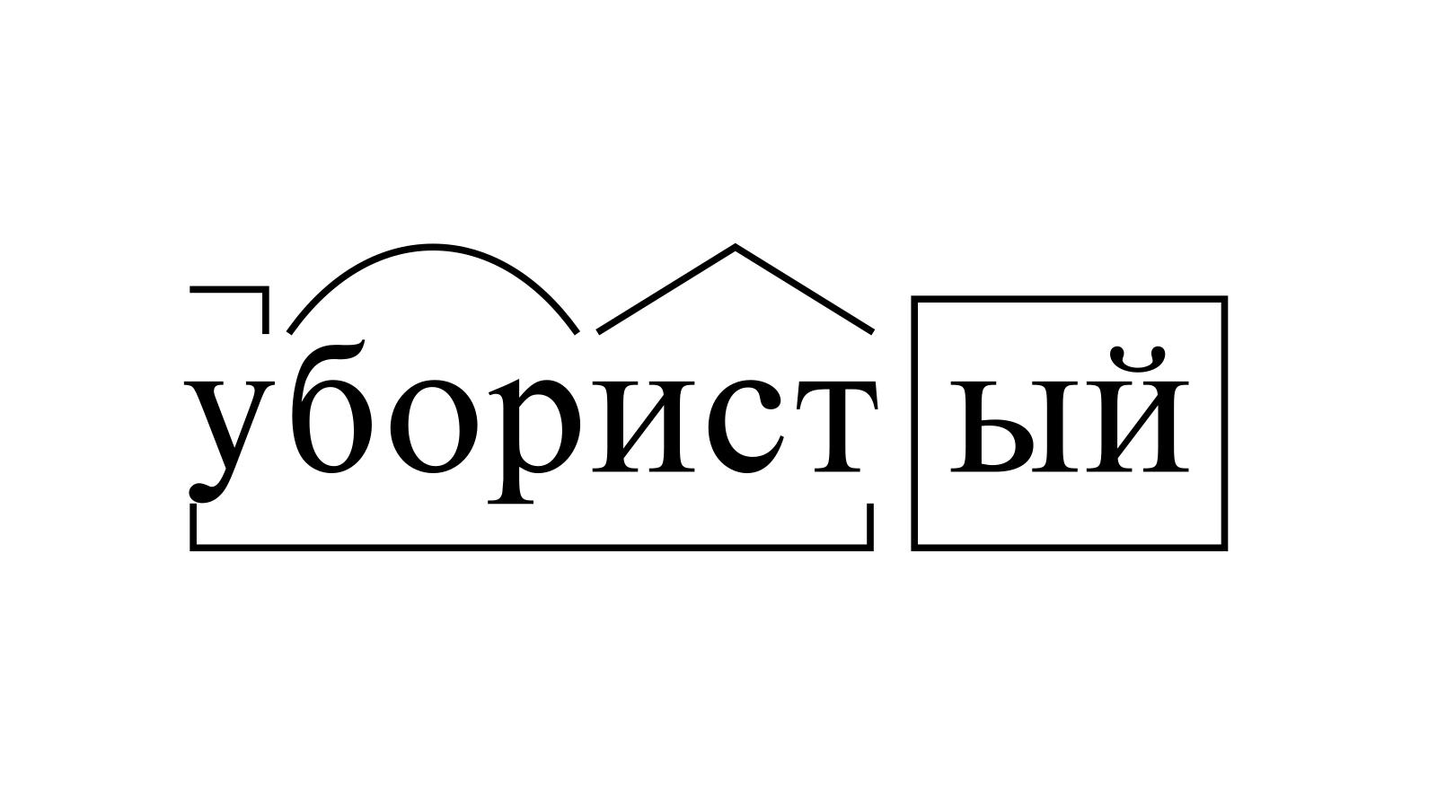 Разбор слова «убористый» по составу