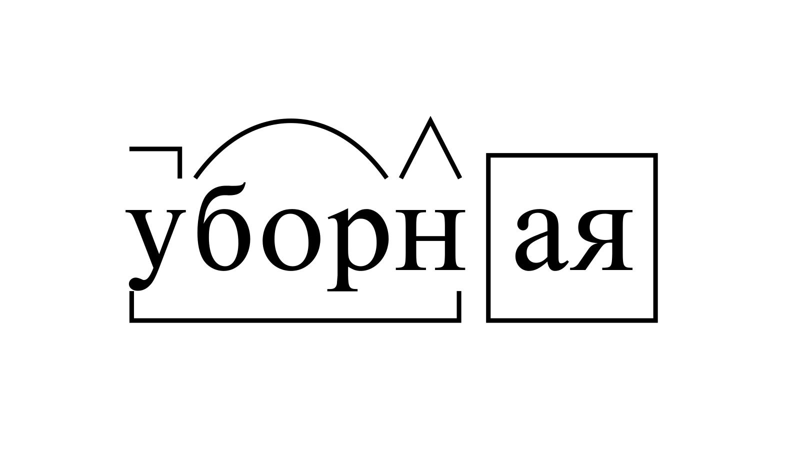Разбор слова «уборная» по составу