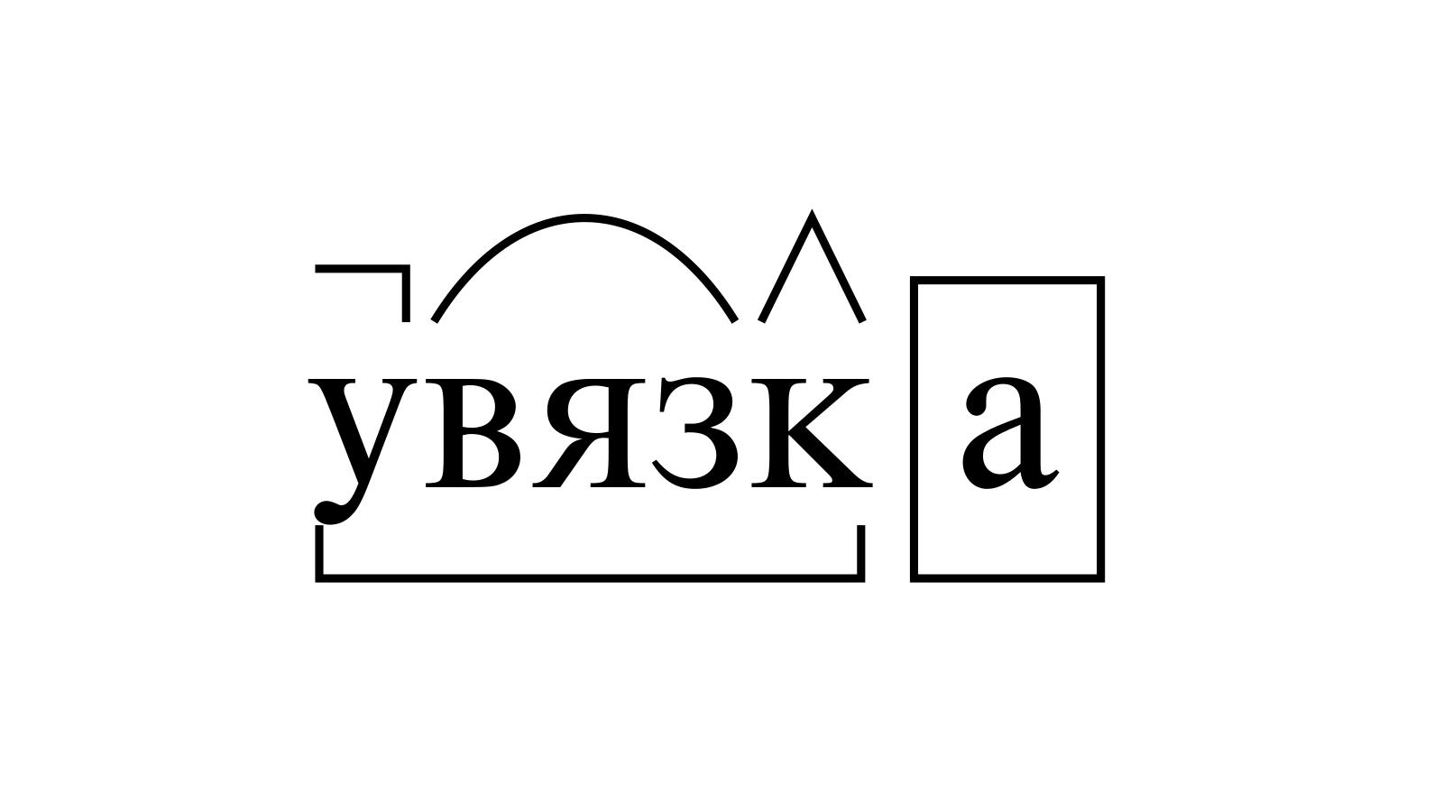 Разбор слова «увязка» по составу