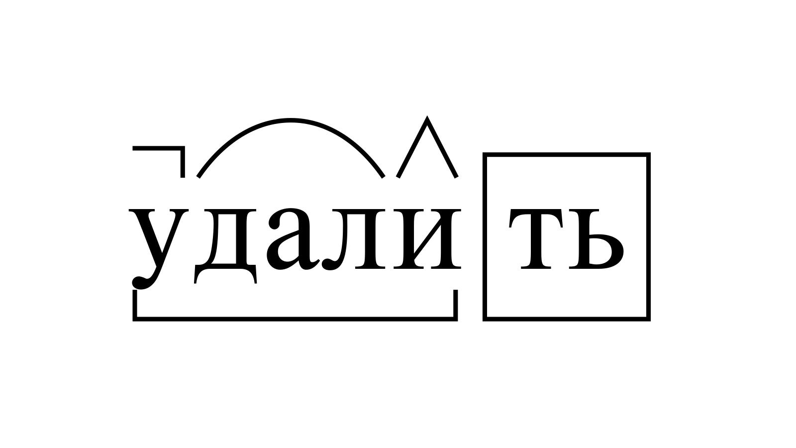 Разбор слова «удалить» по составу