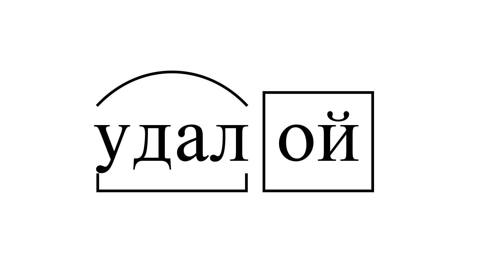 Разбор слова «удалой» по составу