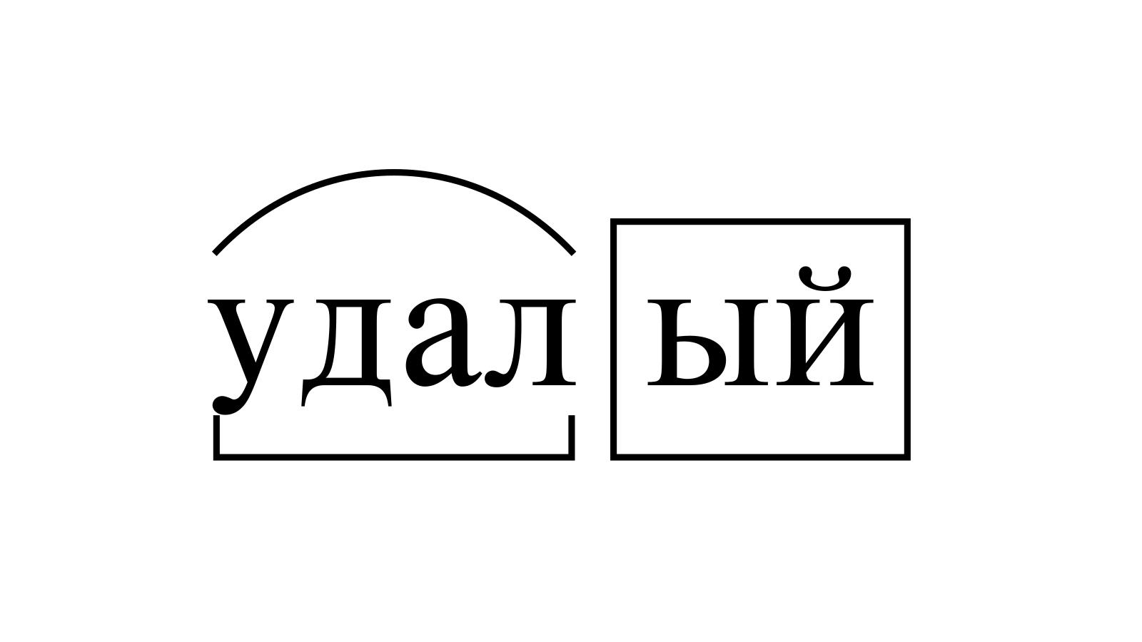 Разбор слова «удалый» по составу
