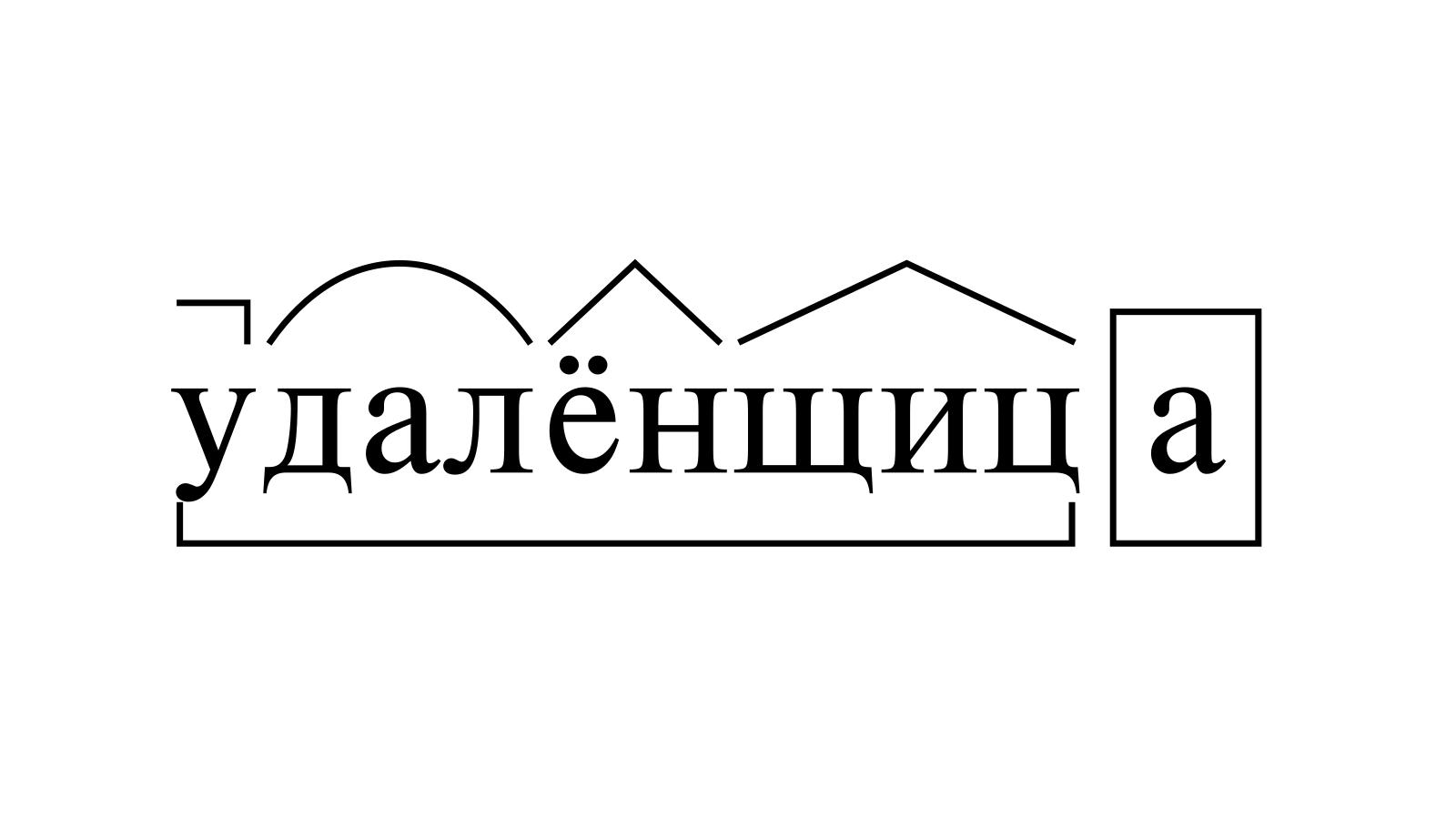 Разбор слова «удалёнщица» по составу