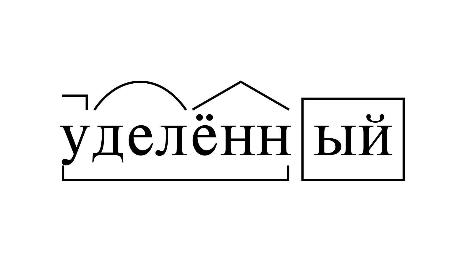 Разбор слова «уделённый» по составу