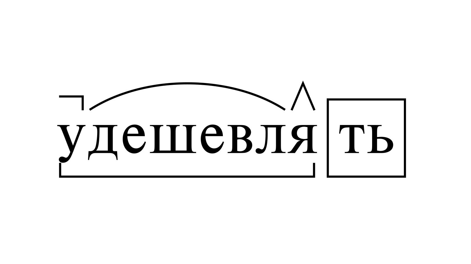 Разбор слова «удешевлять» по составу