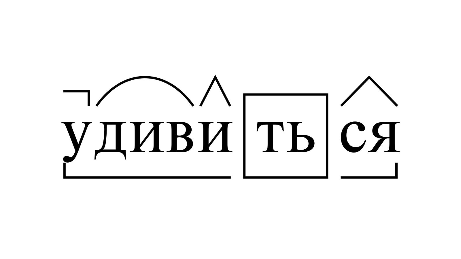 Разбор слова «удивиться» по составу