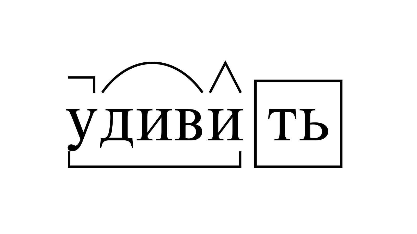 Разбор слова «удивить» по составу