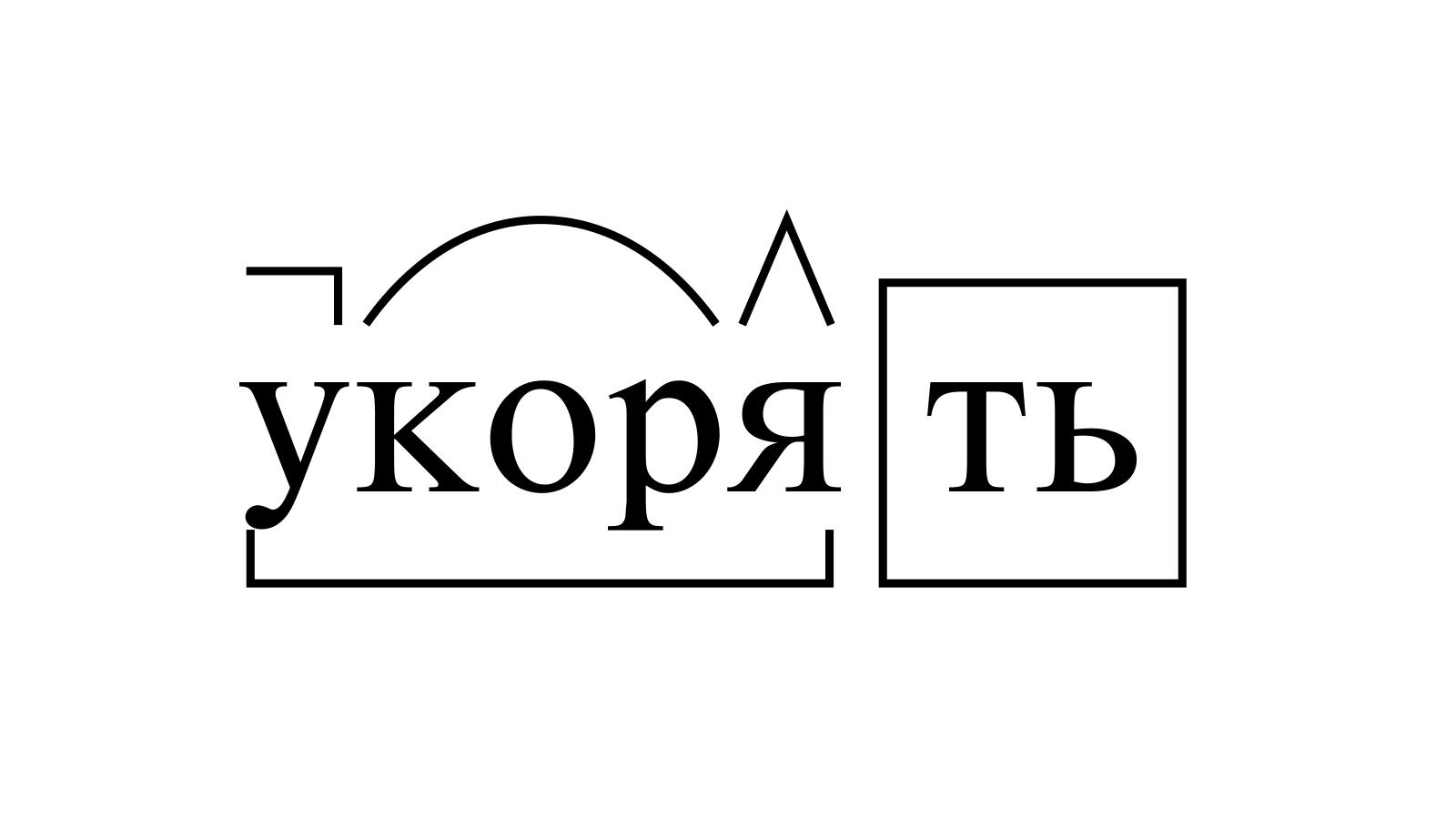 Разбор слова «укорять» по составу