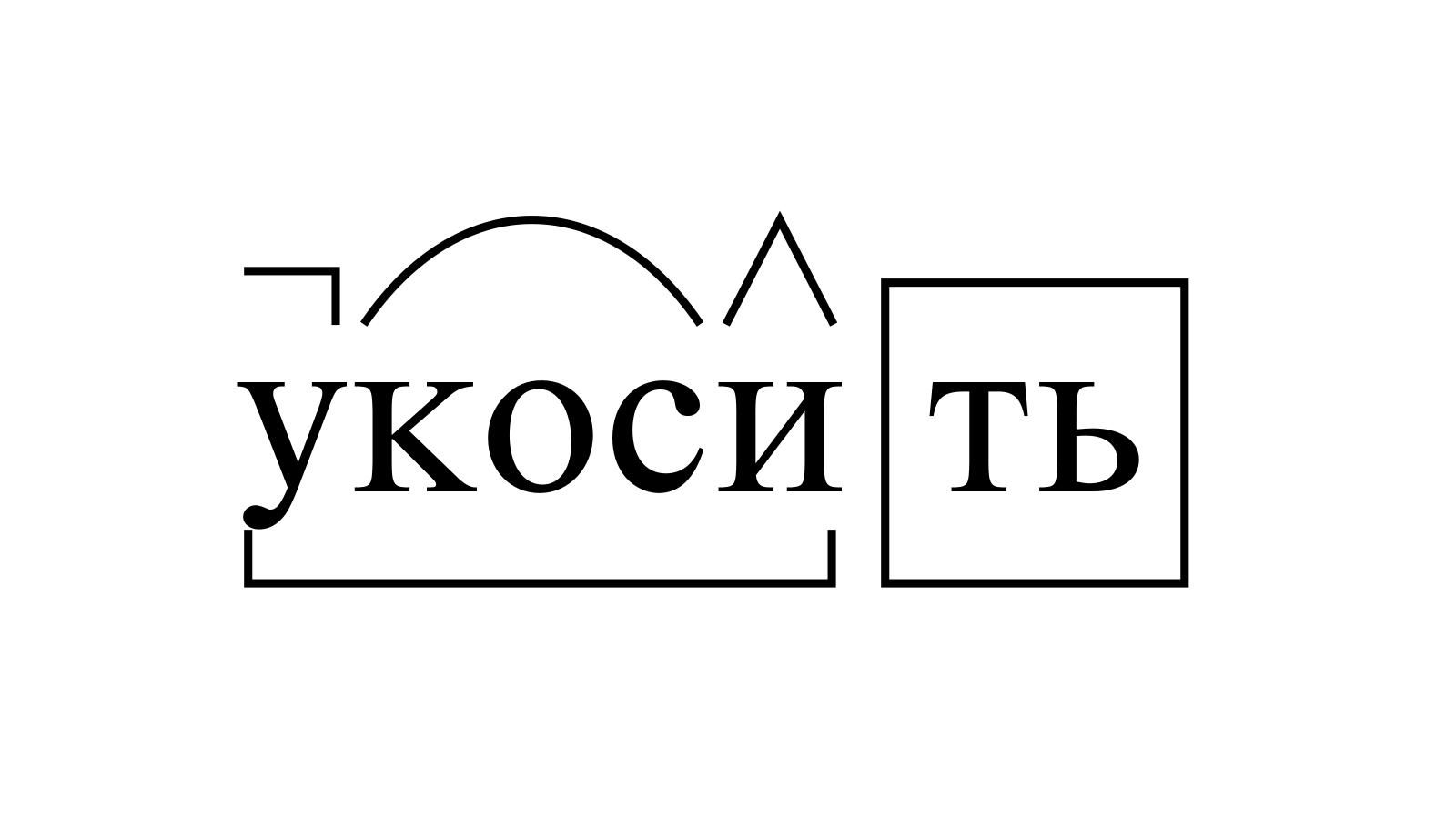 Разбор слова «укосить» по составу