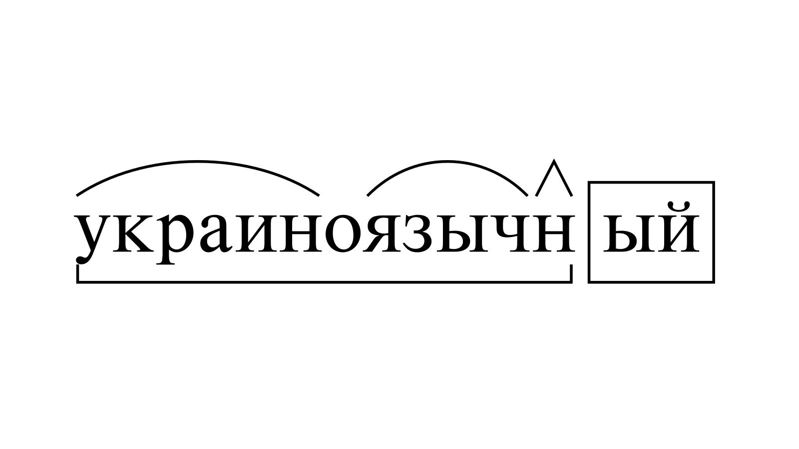 Разбор слова «украиноязычный» по составу