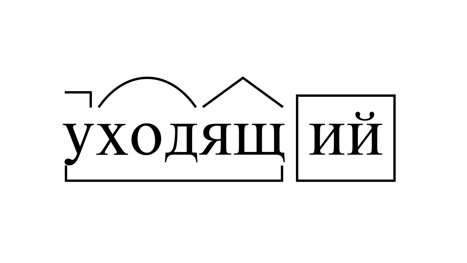 Разбор слова «уходящий» по составу