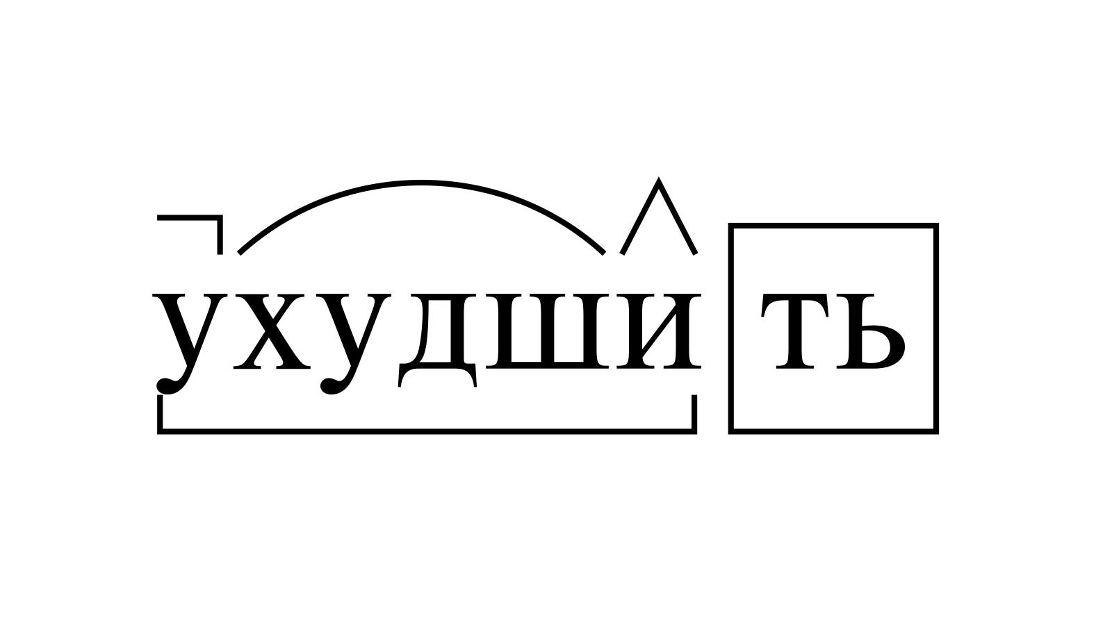 Разбор слова «ухудшить» по составу