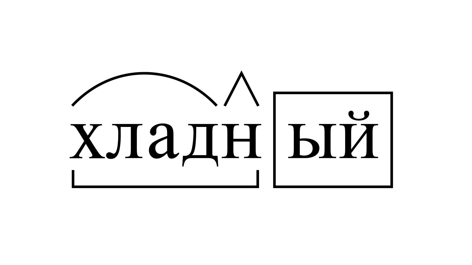 Разбор слова «хладный» по составу