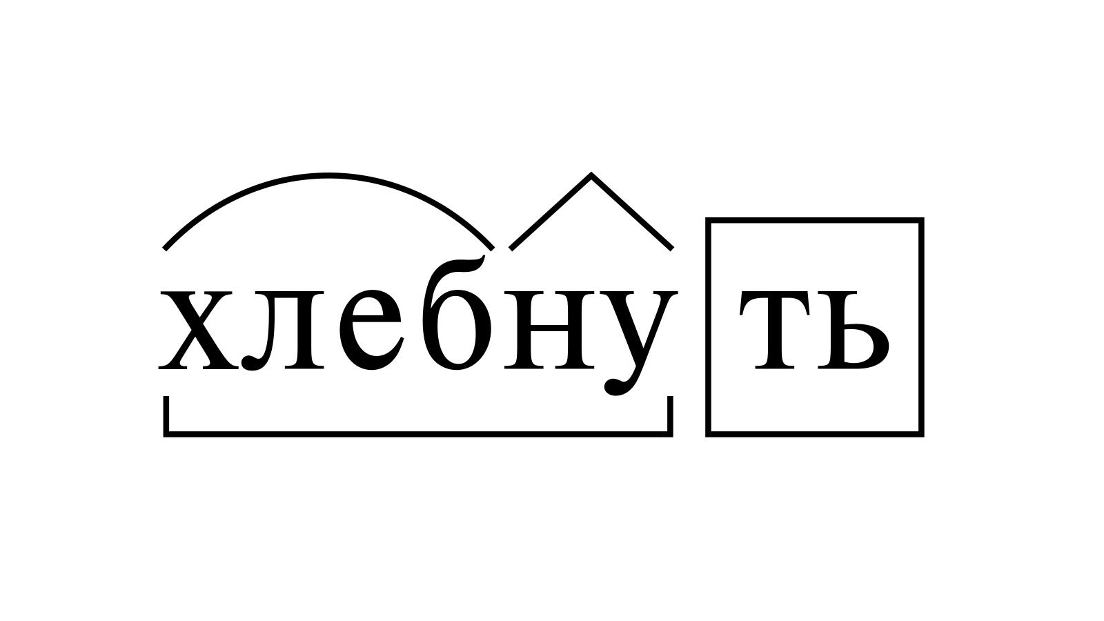 Разбор слова «хлебнуть» по составу