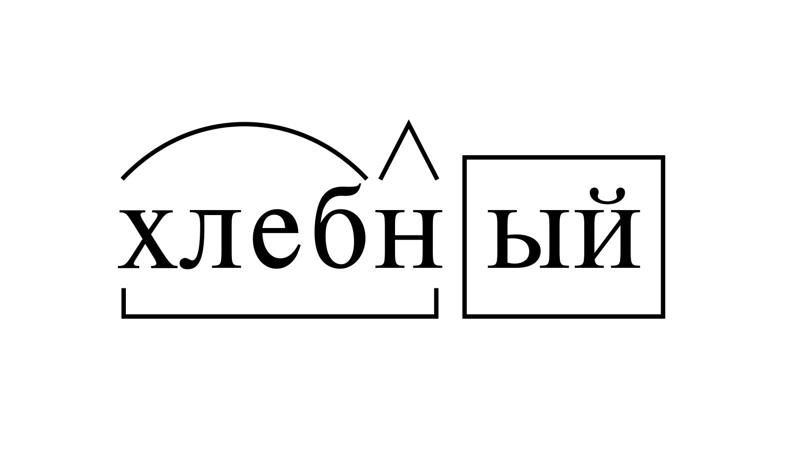 Разбор слова «хлебный» по составу