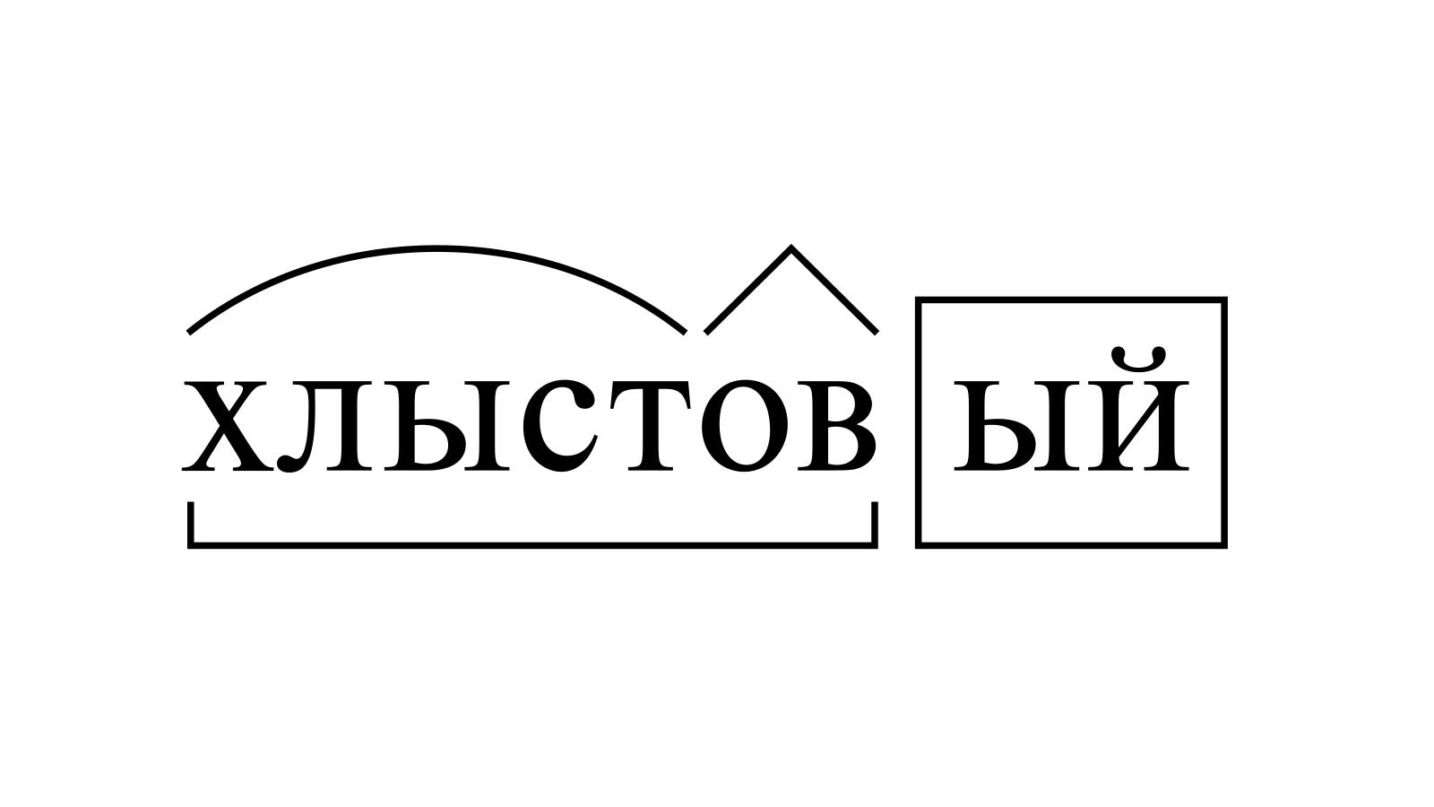 Разбор слова «хлыстовый» по составу
