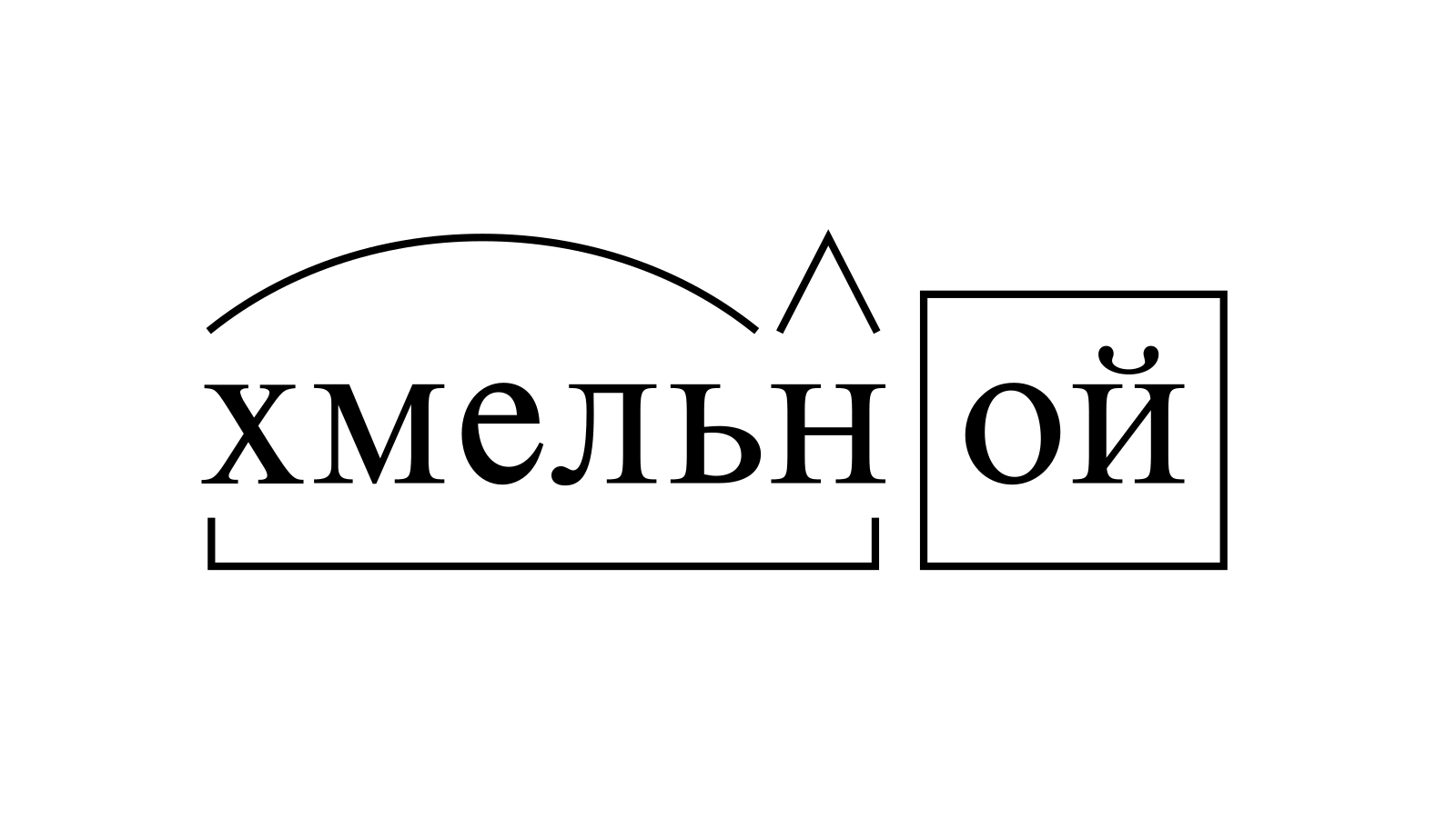 Разбор слова «хмельной» по составу