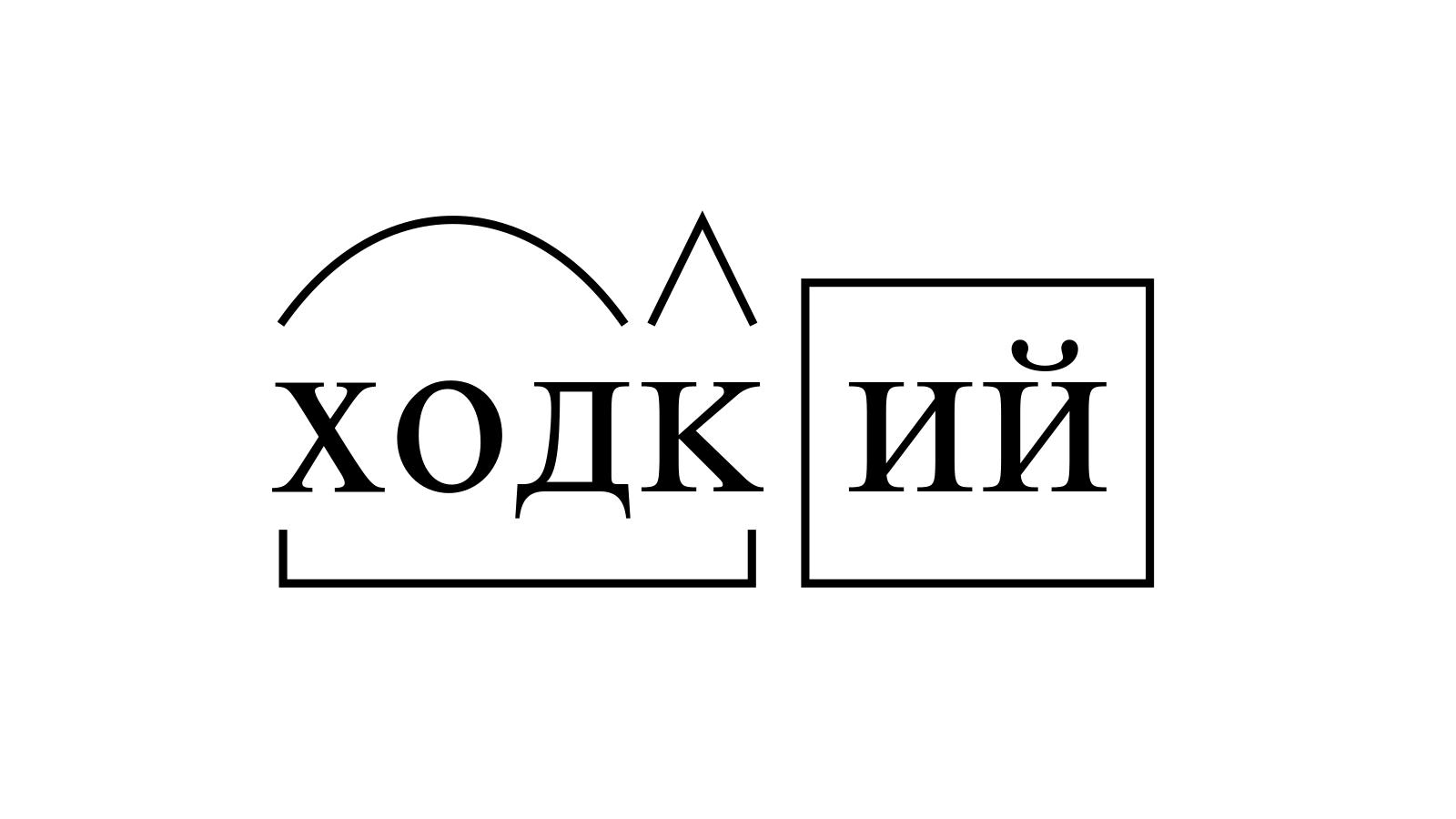 Разбор слова «ходкий» по составу