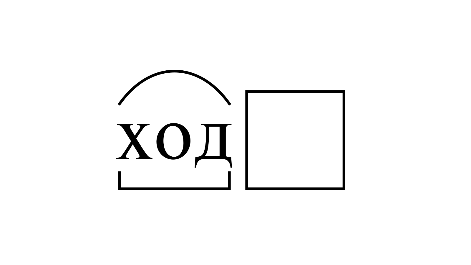 Разбор слова «ход» по составу