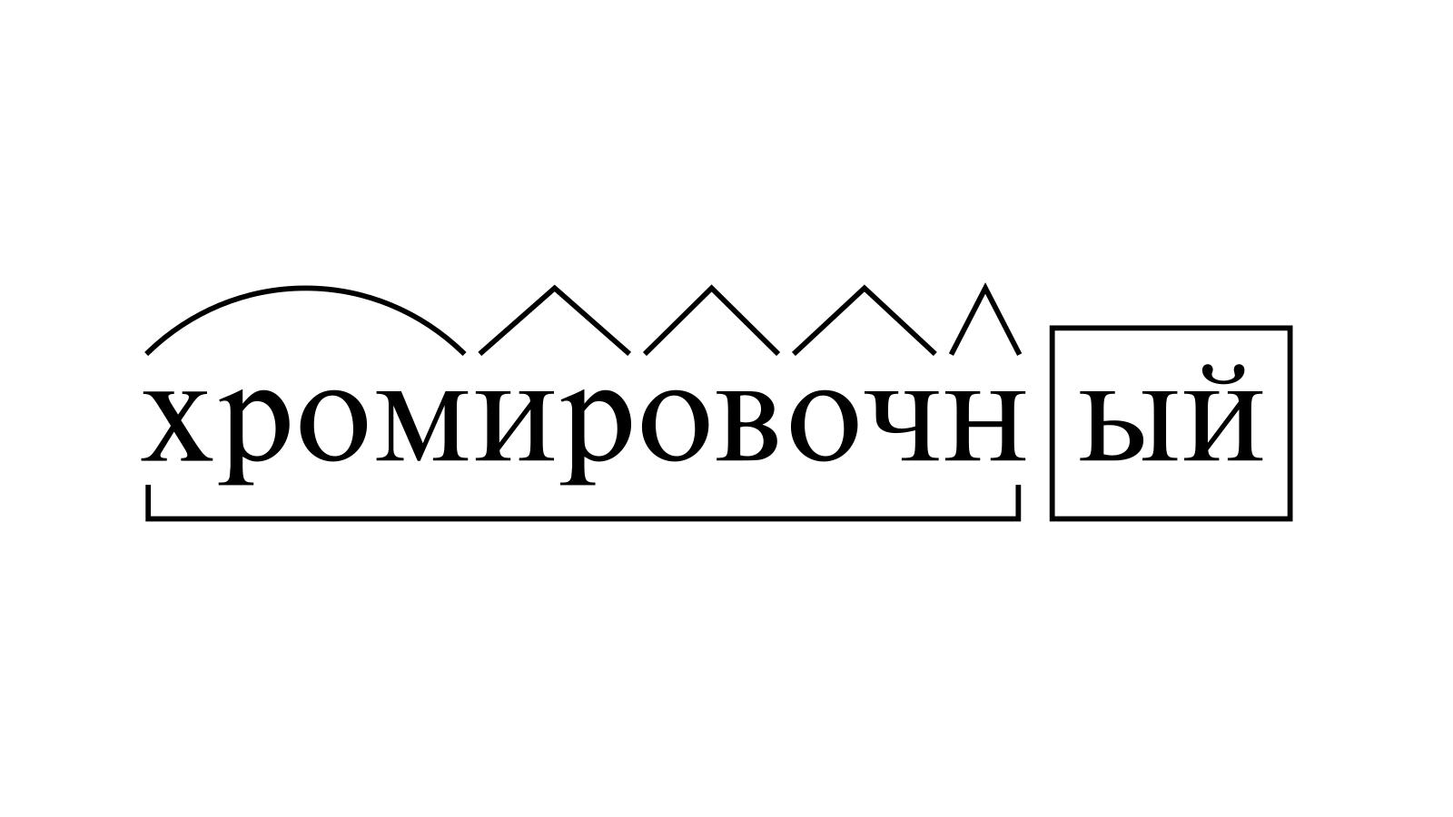 Разбор слова «хромировочный» по составу