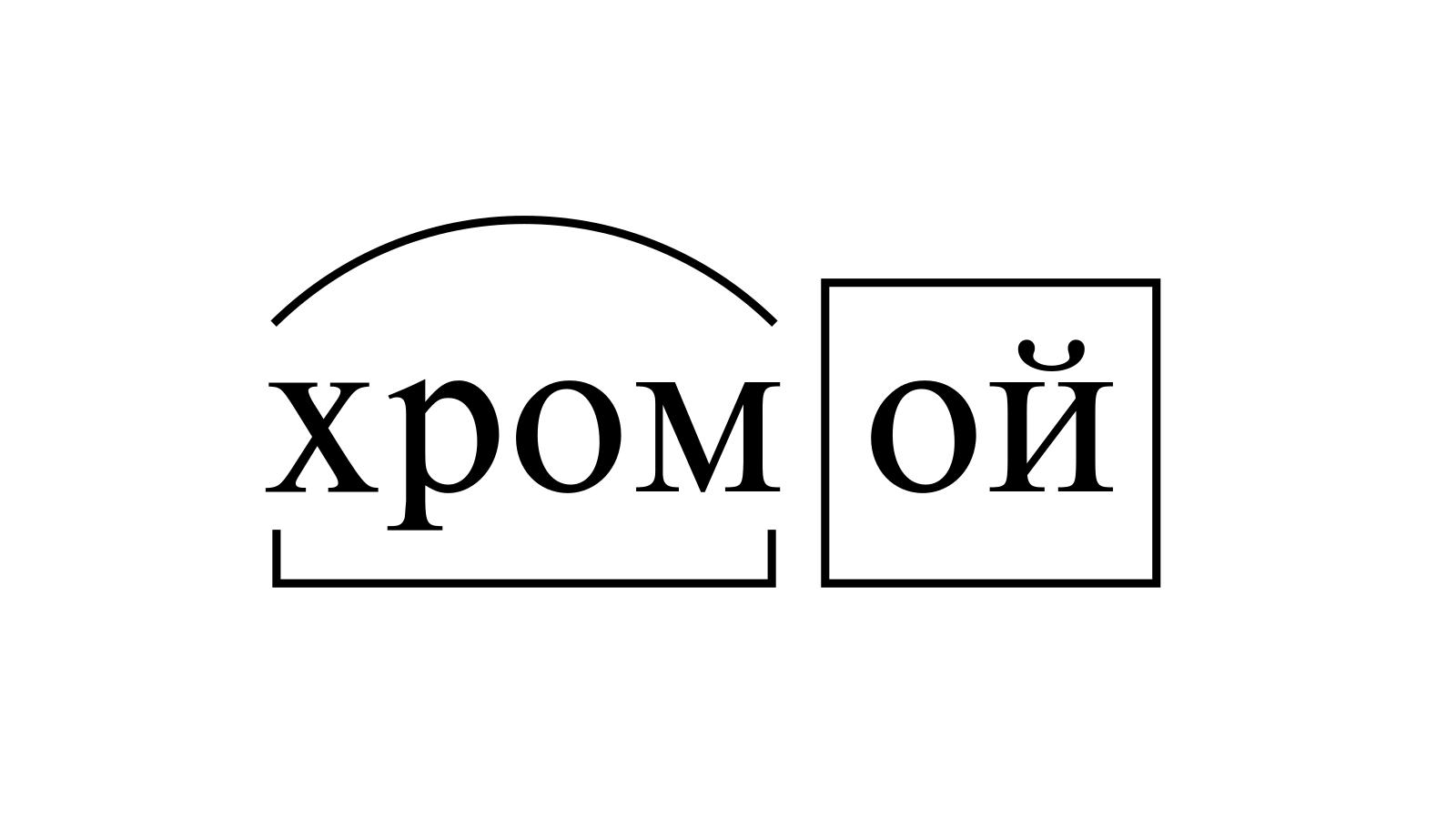 Разбор слова «хромой» по составу