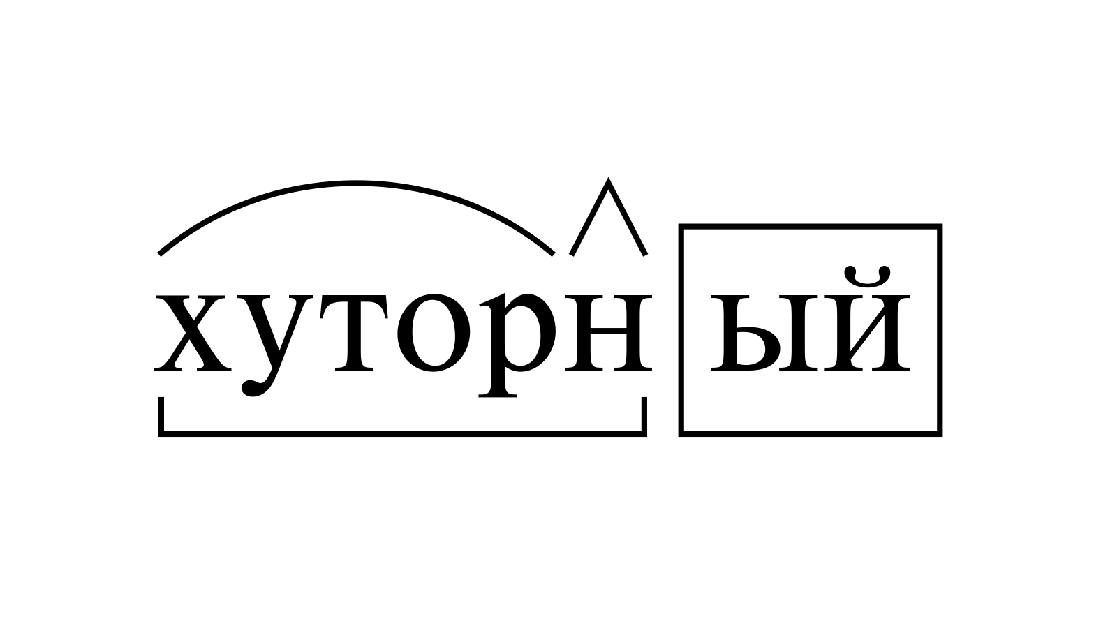 Разбор слова «хуторный» по составу