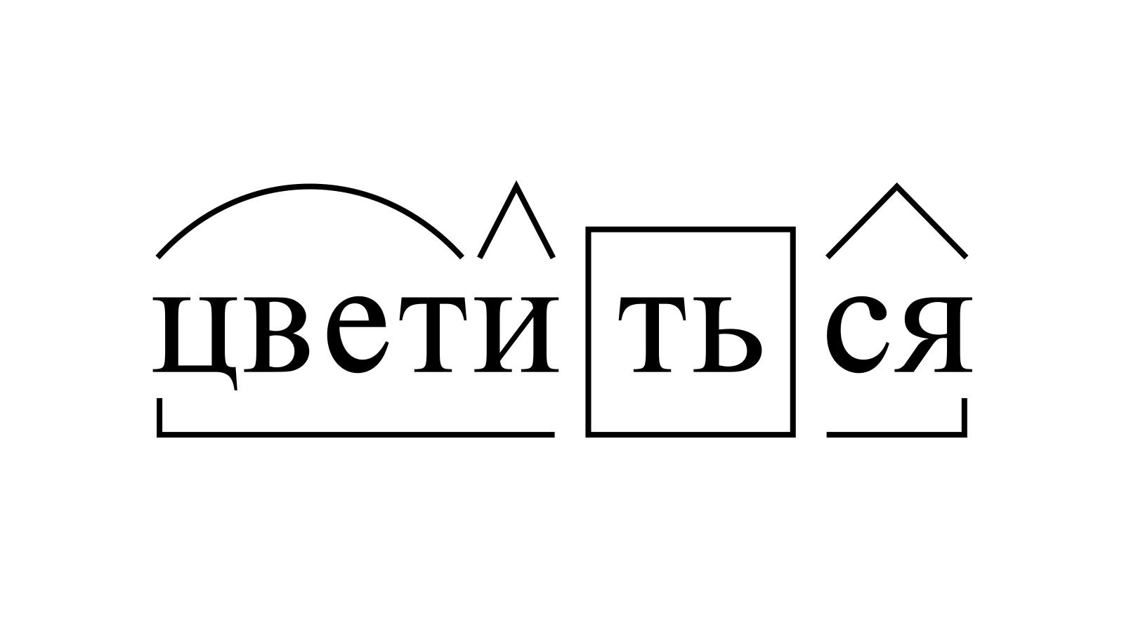 Разбор слова «цветиться» по составу