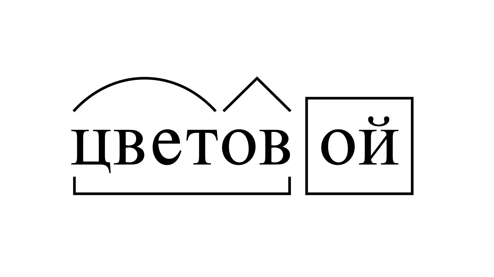 Разбор слова «цветовой» по составу