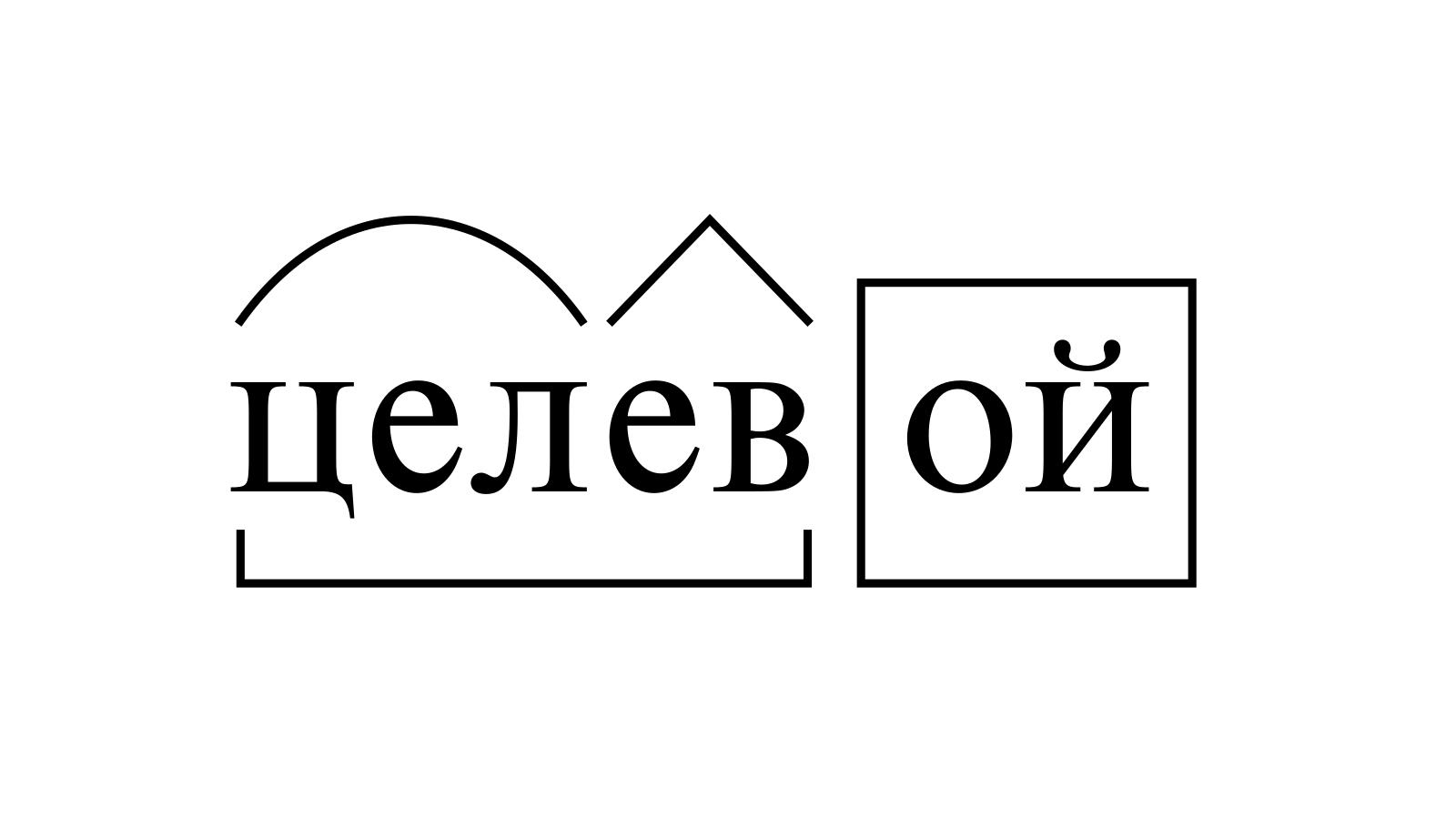 Разбор слова «целевой» по составу