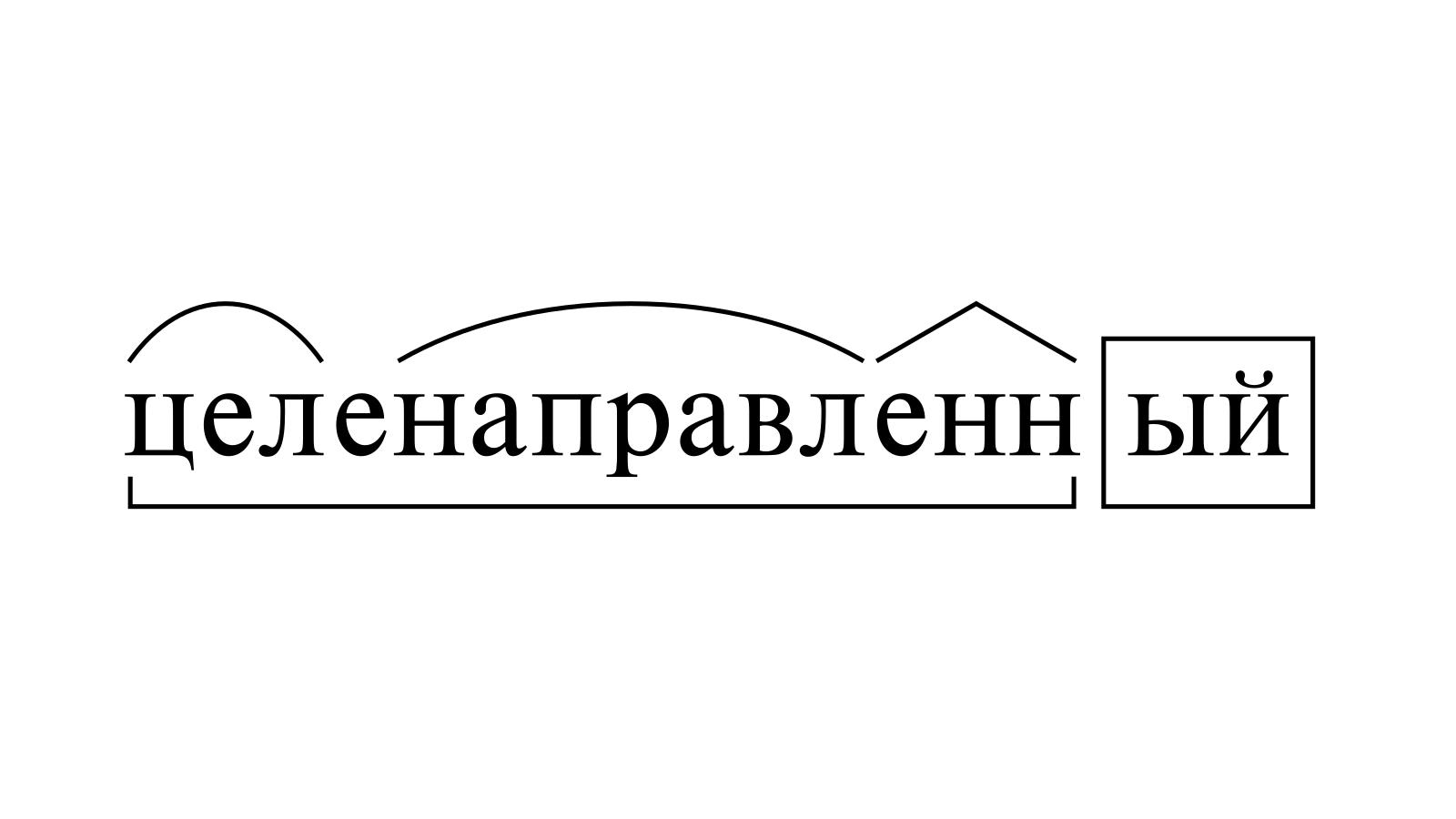 Разбор слова «целенаправленный» по составу