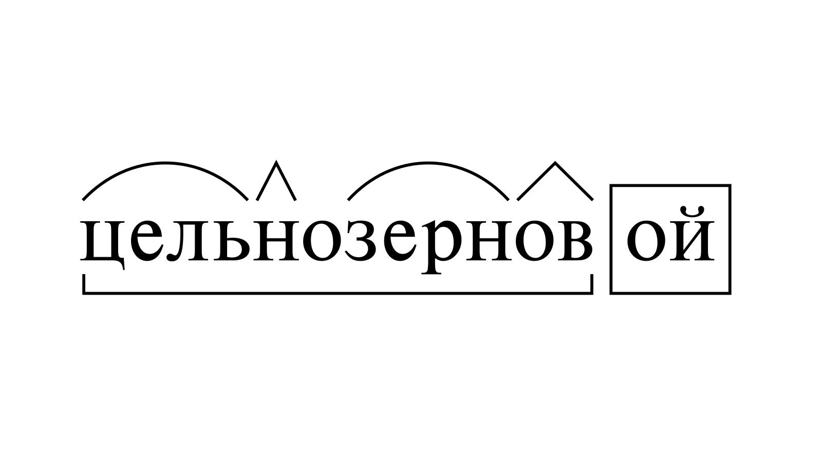 Разбор слова «цельнозерновой» по составу